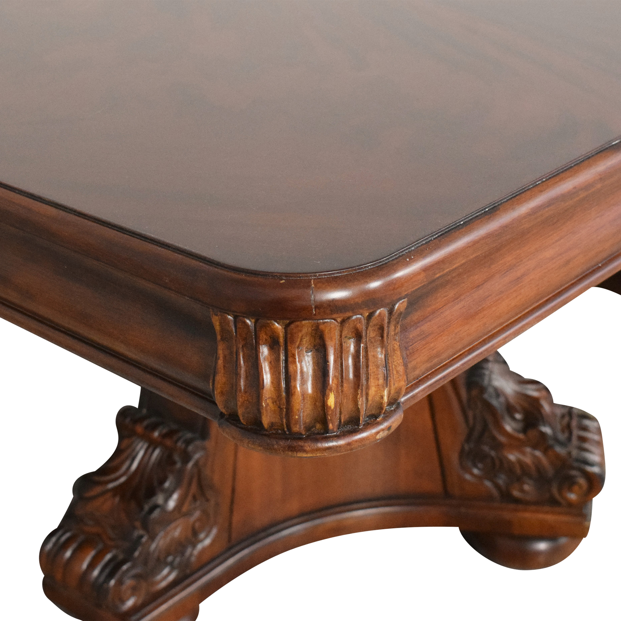 shop Extendable Clawfoot Double Pedestal Dining Table  Tables