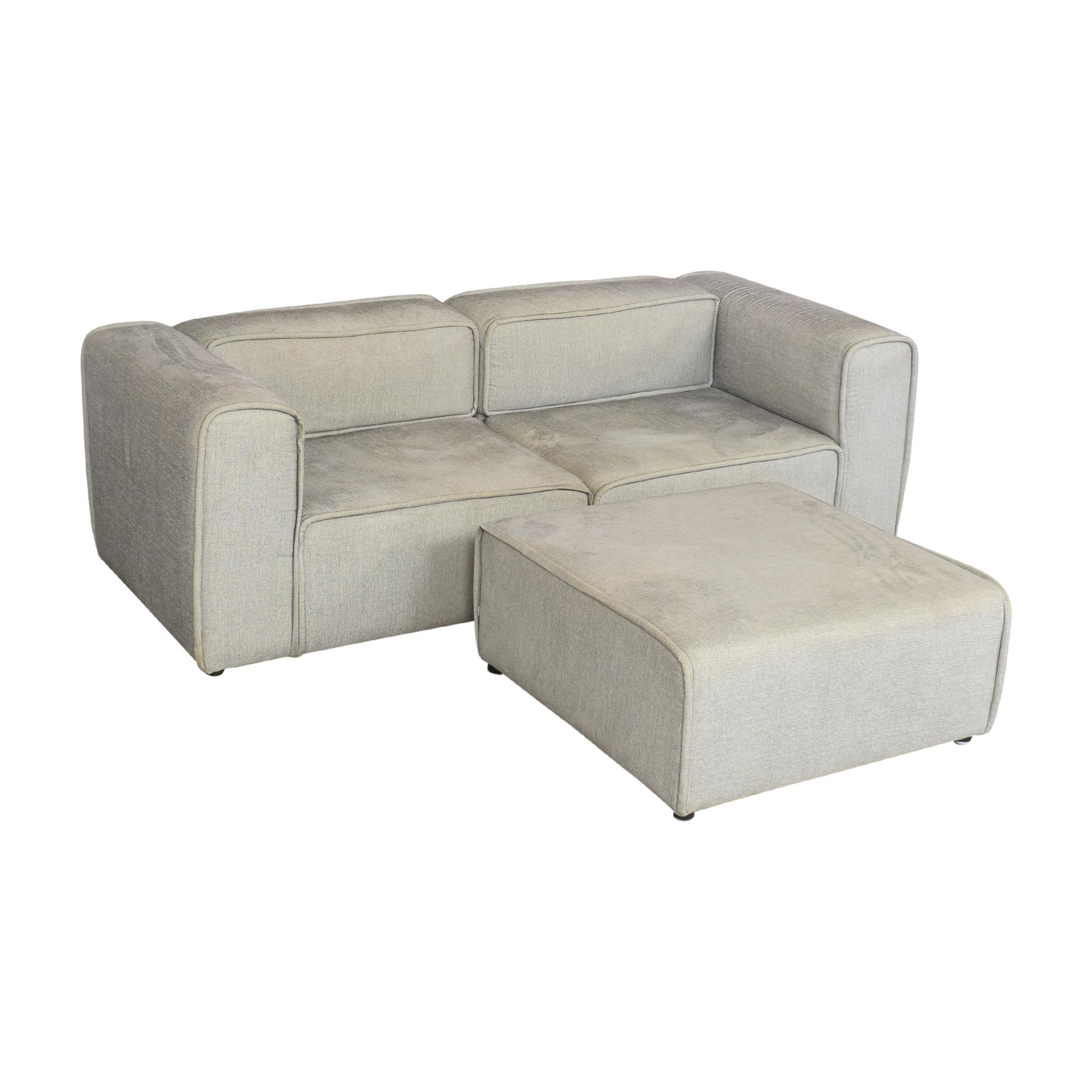 BoConcept BoConcept Carmo Modular Sofa and Ottoman gray