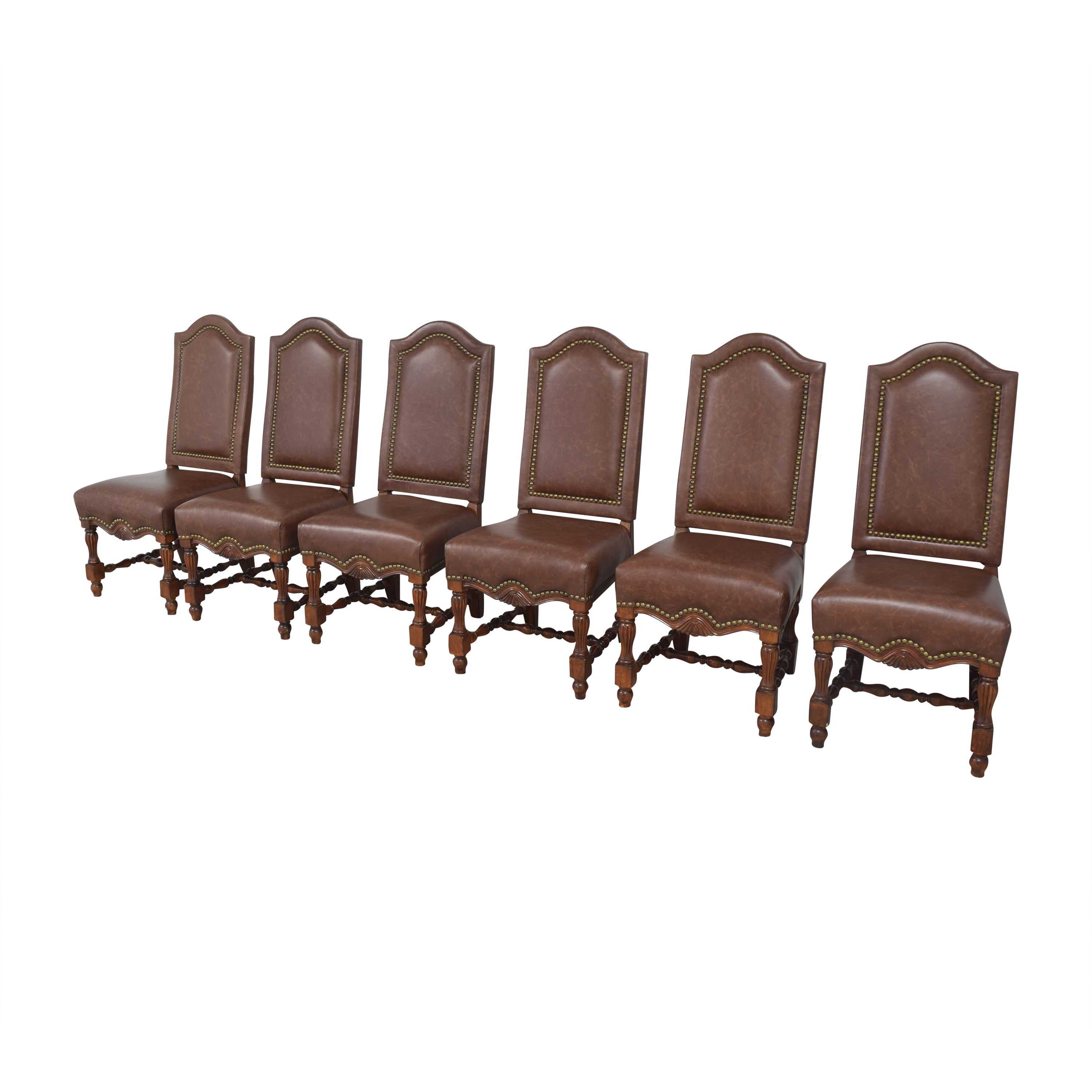 Nailhead Side Dining Chairs sale