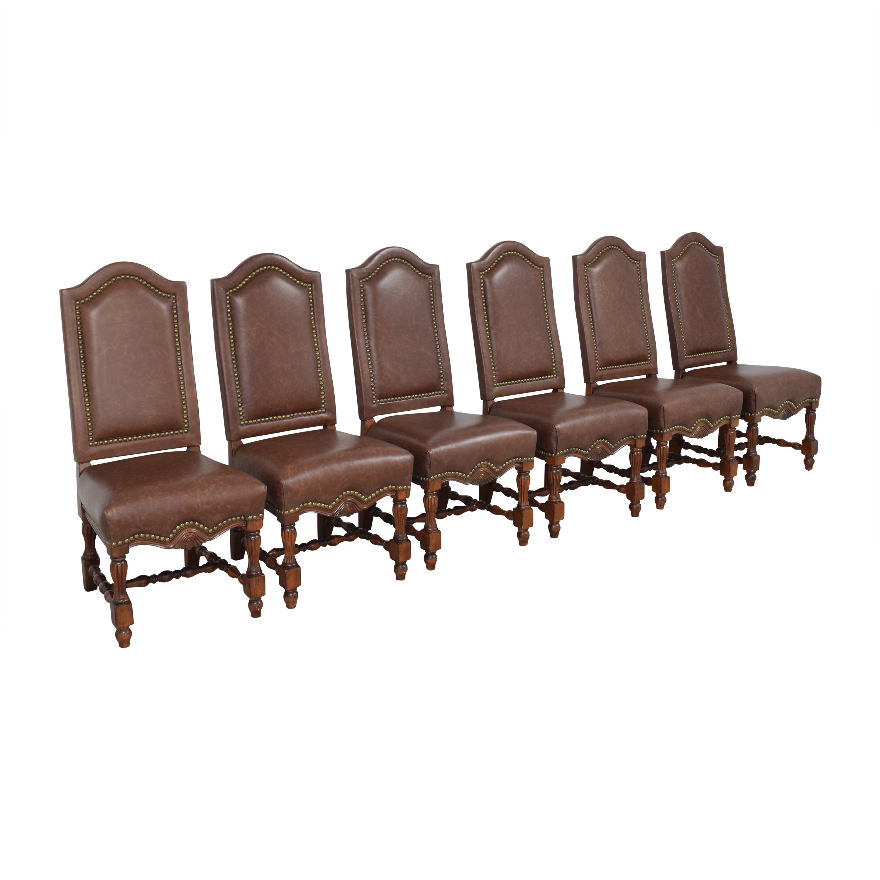 Nailhead Side Dining Chairs