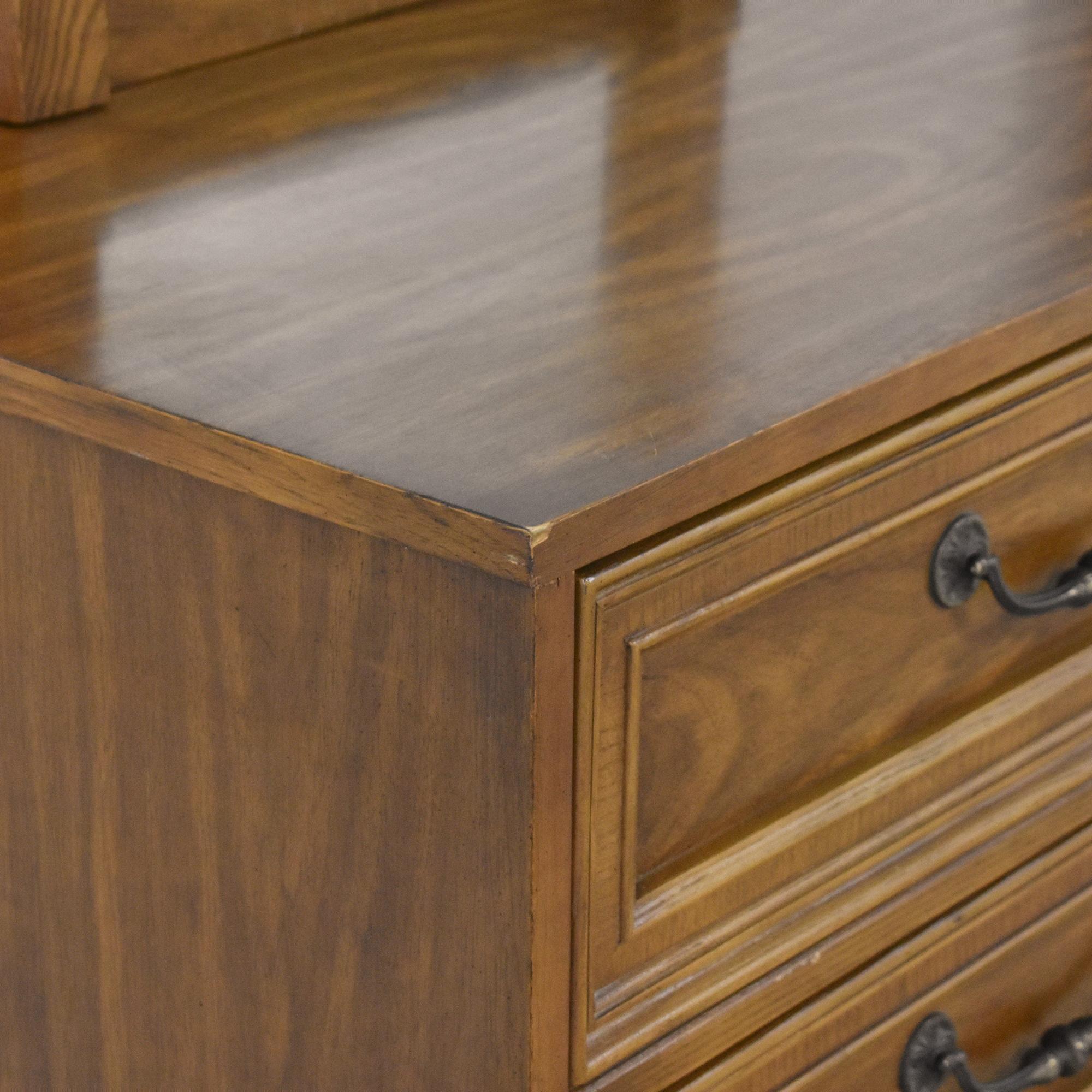 shop Bassett Furniture Cortese Triple Dresser with Mirrors Bassett Furniture Dressers