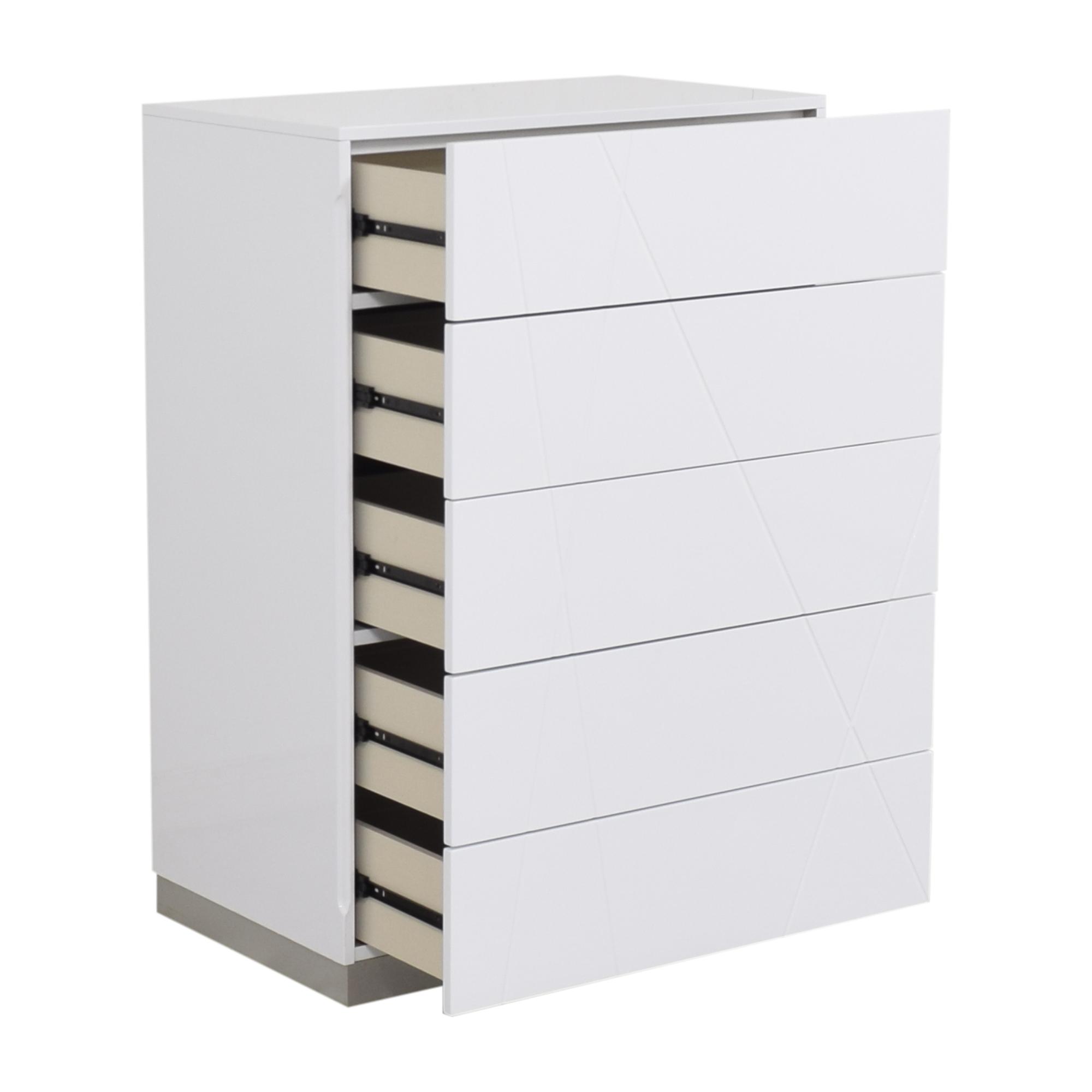 Orren Ellis Orren Ellis Anikesh Five Drawer Chest white