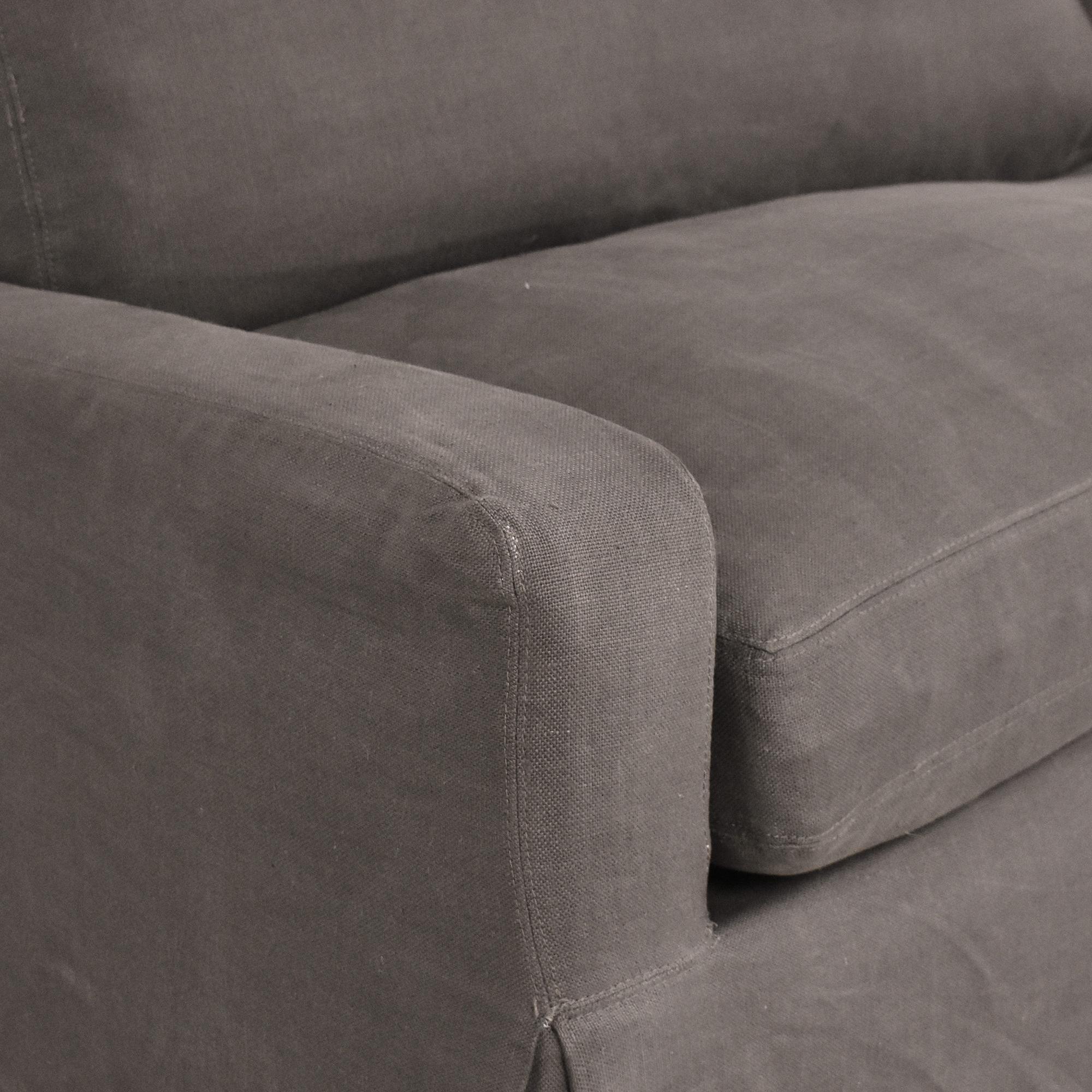 shop Restoration Hardware Belgian Track Arm Slipcovered Sleeper Sofa Restoration Hardware Sofas