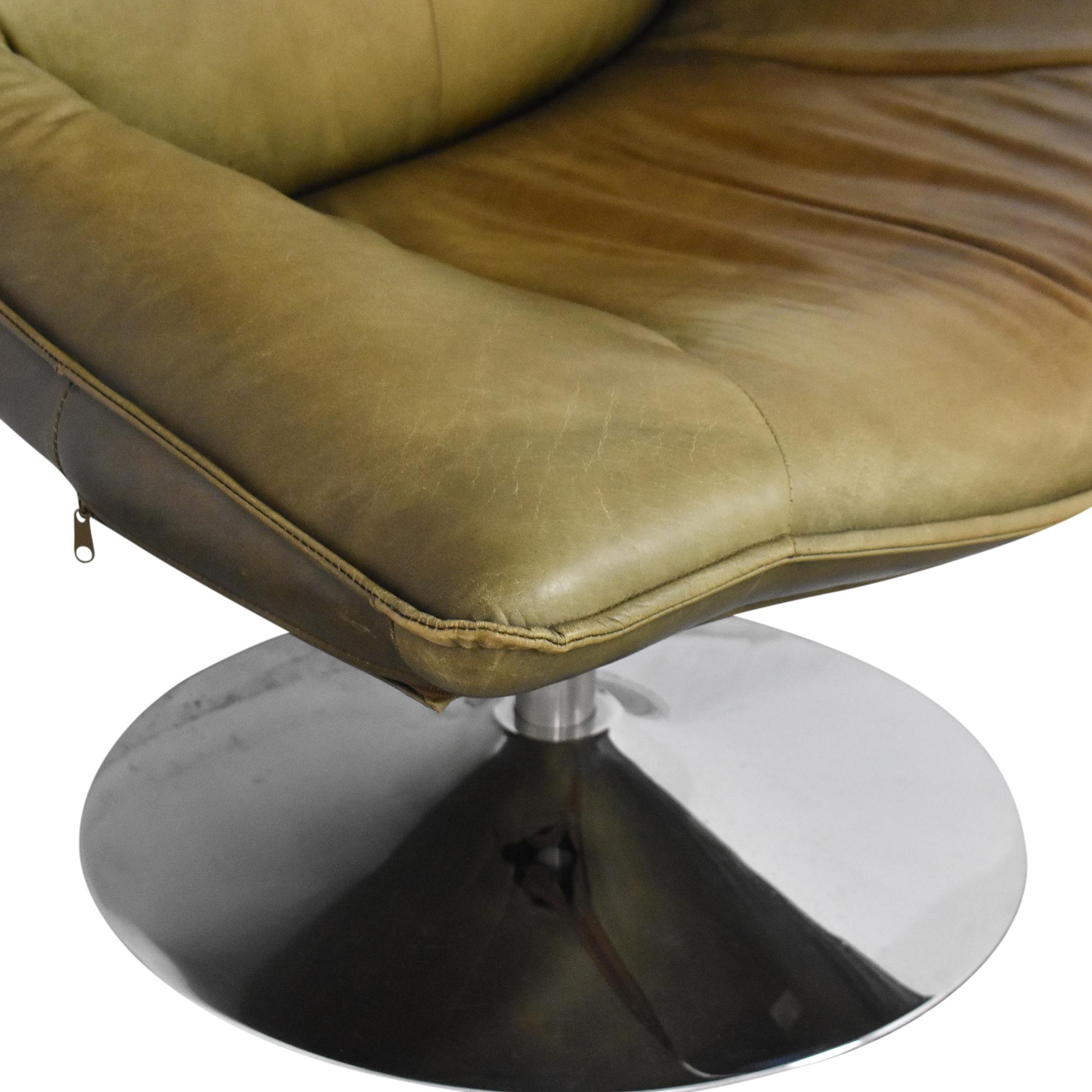 Restoration Hardware Restoration Hardware Hopper Swivel Bucket Chair green