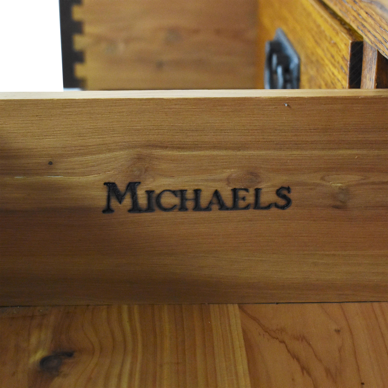 Michaels Michaels Mission-Style Twelve Drawer Dresser dimensions