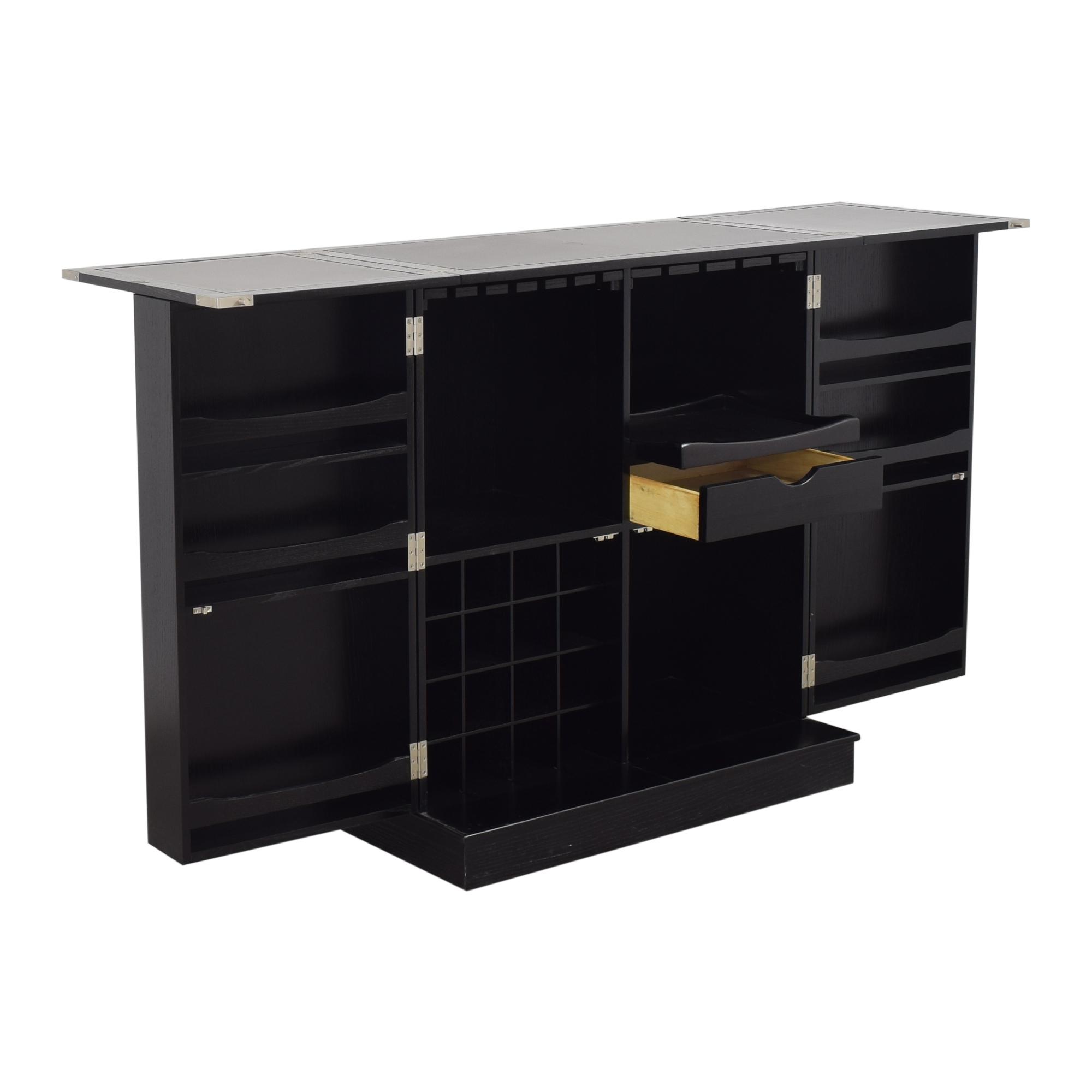 Crate & Barrel Crate & Barrel Steamer Bar Cabinet on sale