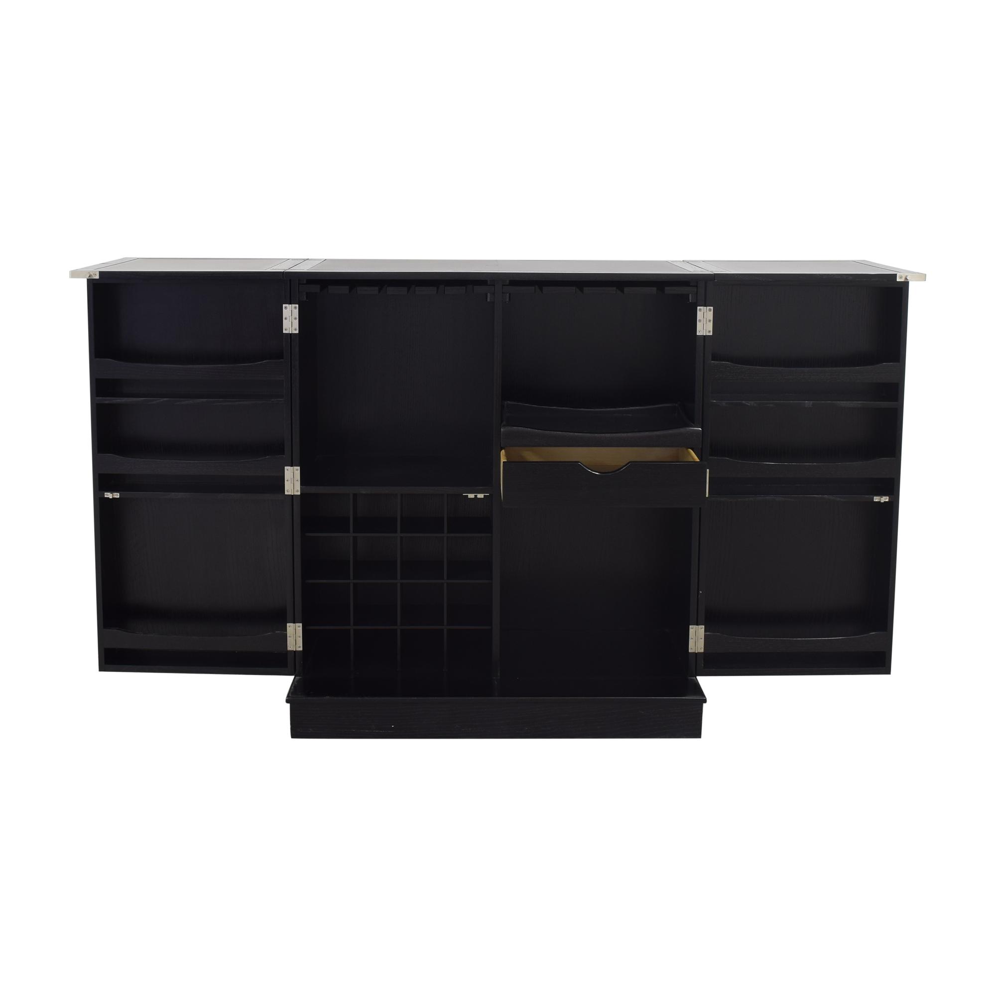 Crate & Barrel Crate & Barrel Steamer Bar Cabinet pa