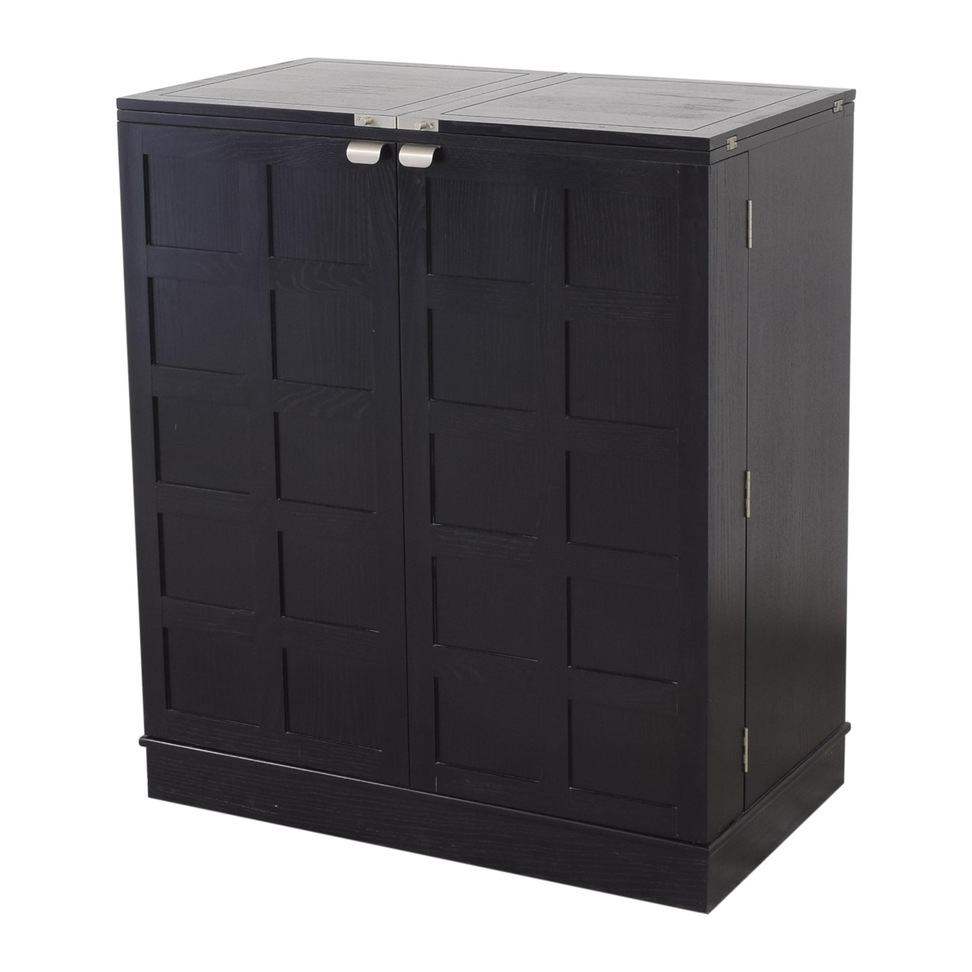 Crate & Barrel Crate & Barrel Steamer Bar Cabinet ct