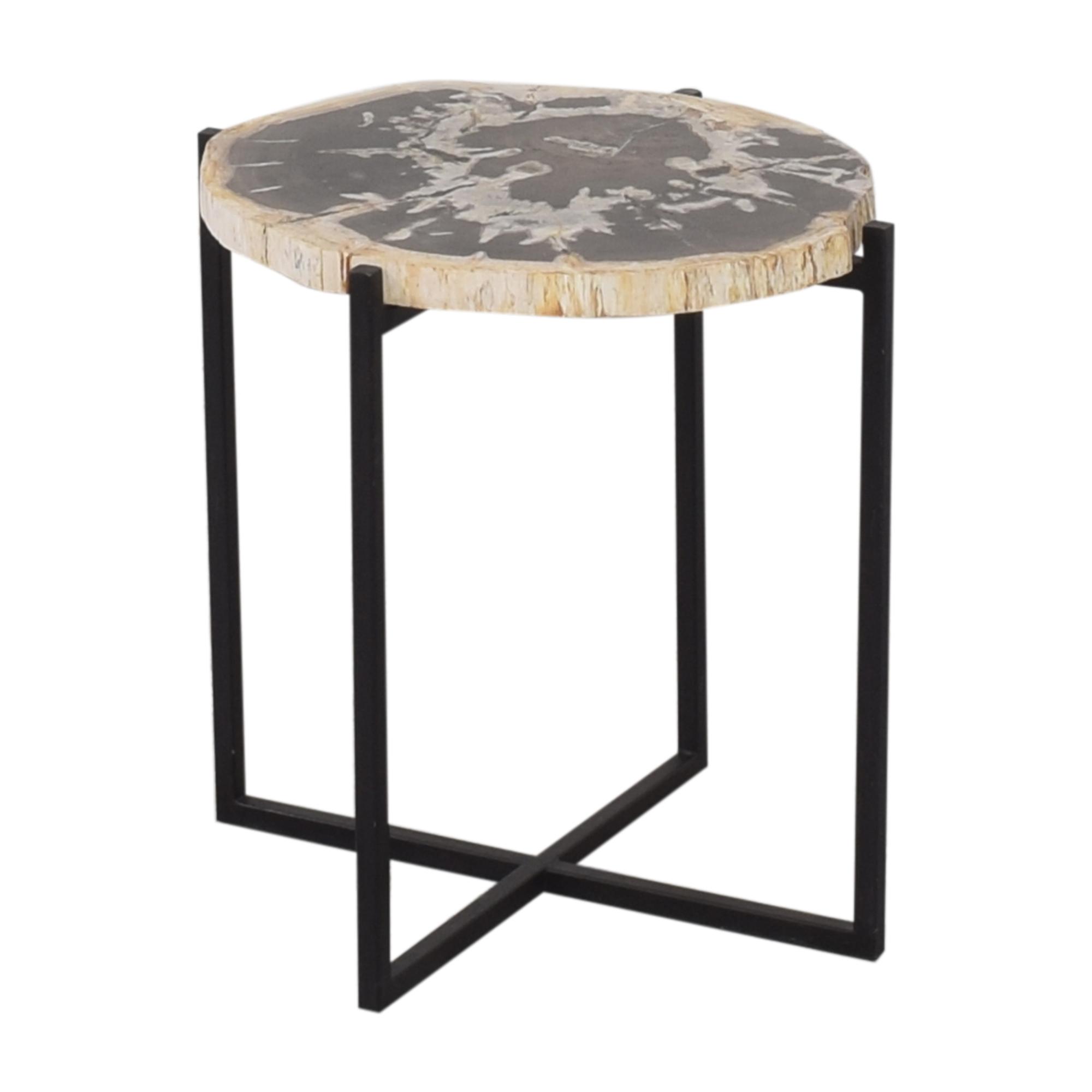 West Elm West Elm Petrified Side Table for sale