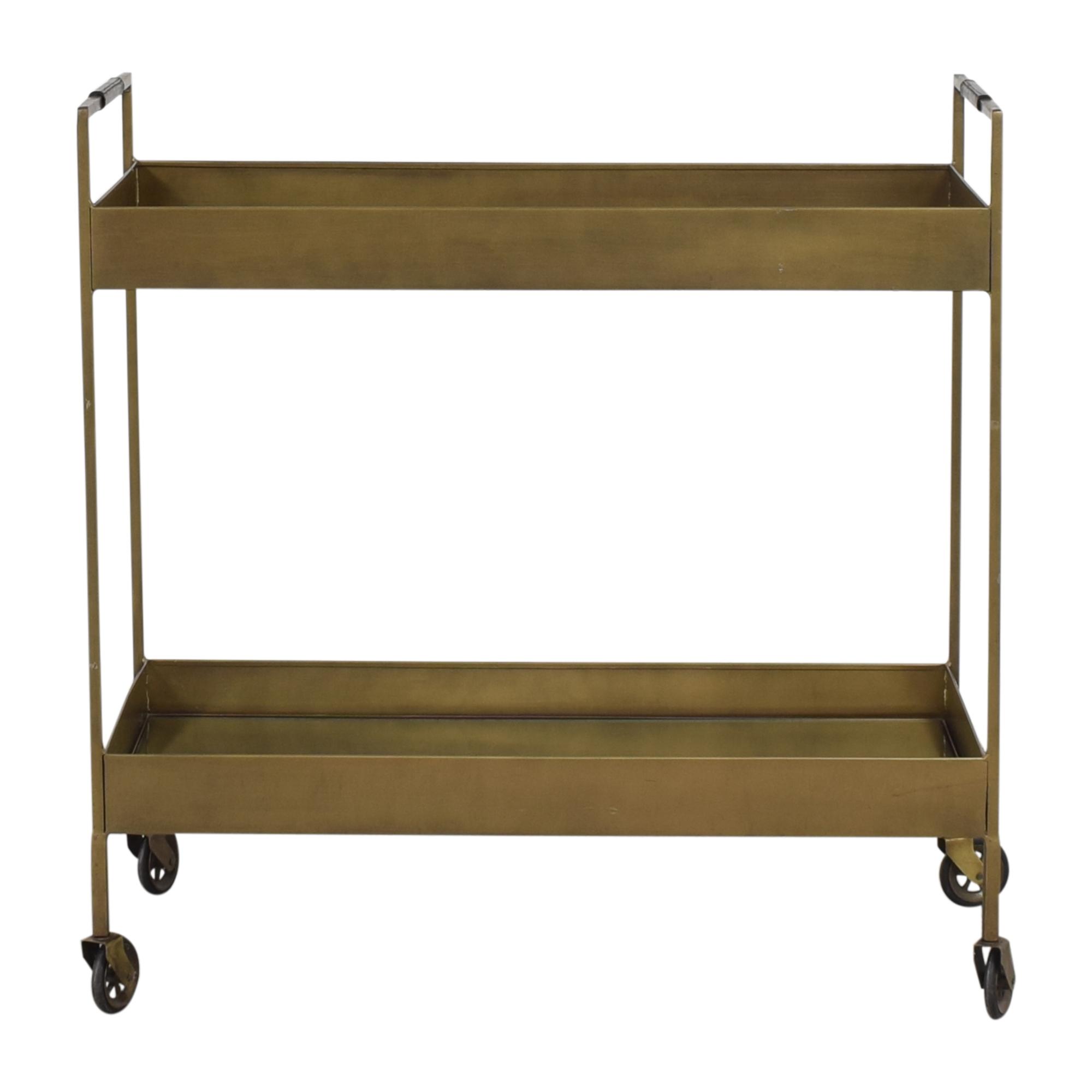 Crate & Barrel Libations Bar Cart sale
