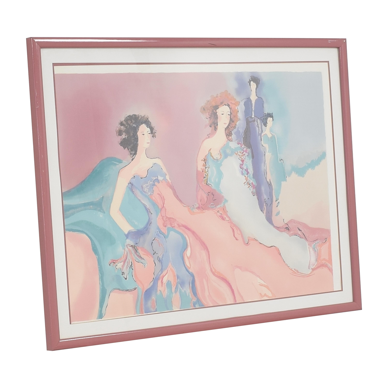 Jane Bazinet Misty Rose Wall Art sale
