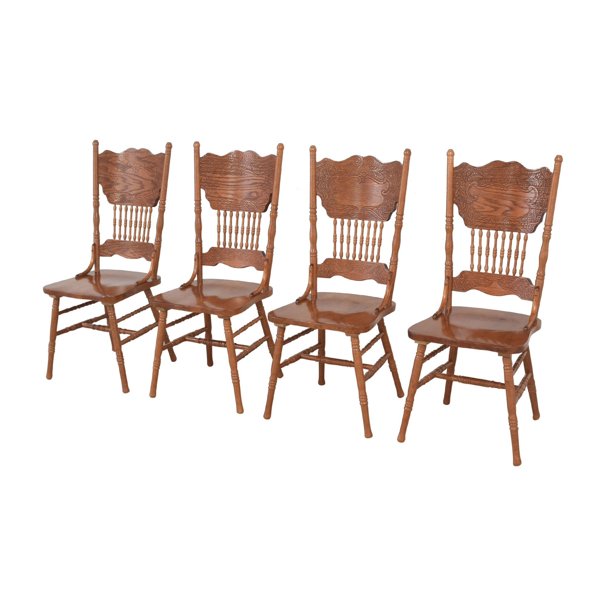 shop Poundex Pressback Dining Chairs Poundex Chairs