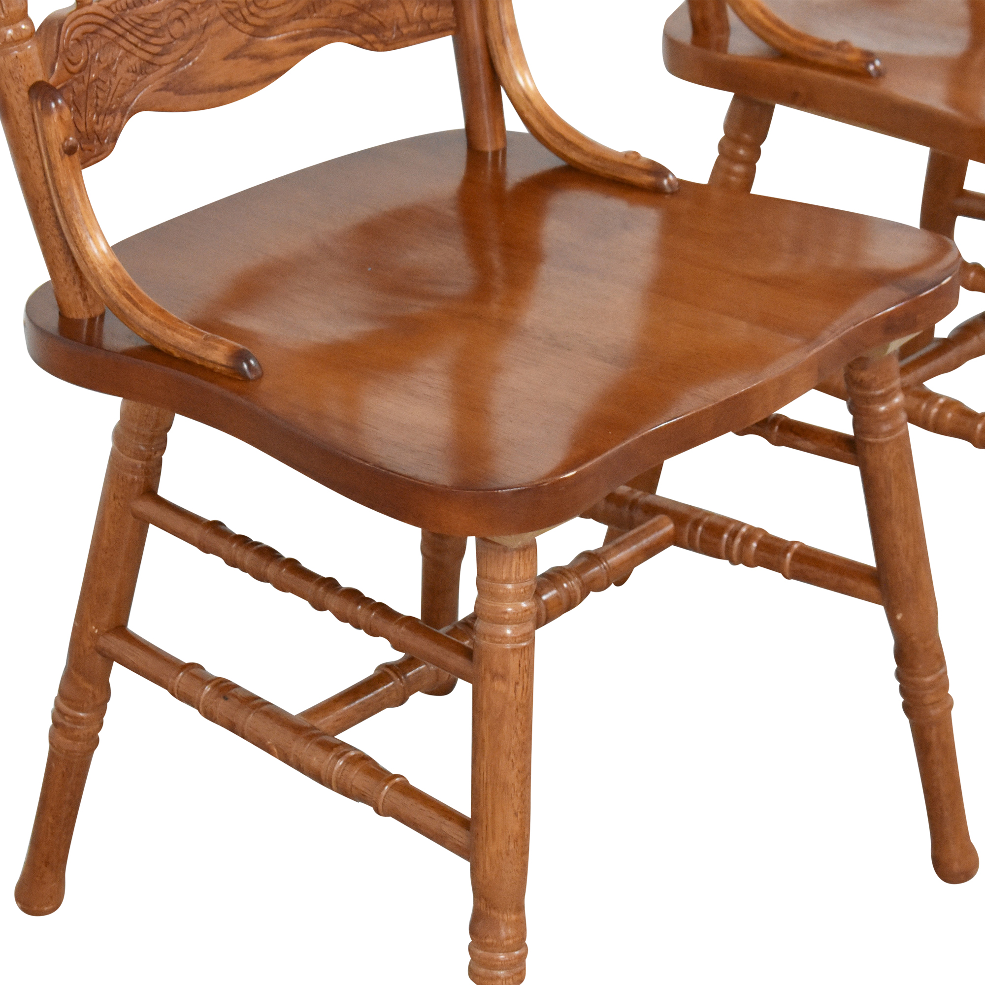 Poundex Poundex Pressback Dining Chairs second hand