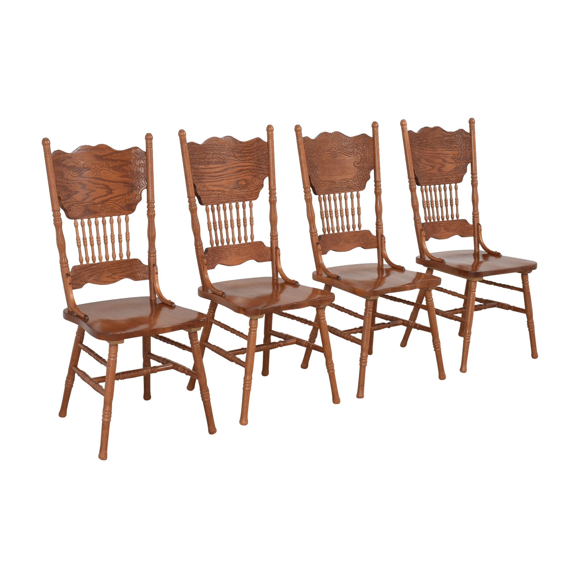 Poundex Poundex Pressback Dining Chairs ct