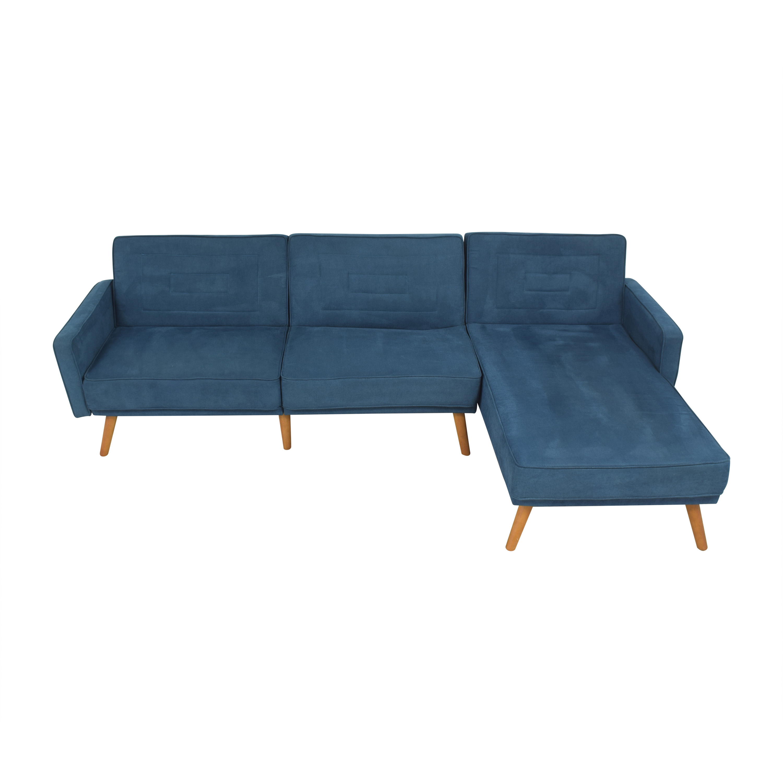 Macy's Macy's Gold Sparrow Ventura Convertible Sectional Sofa Bed nj