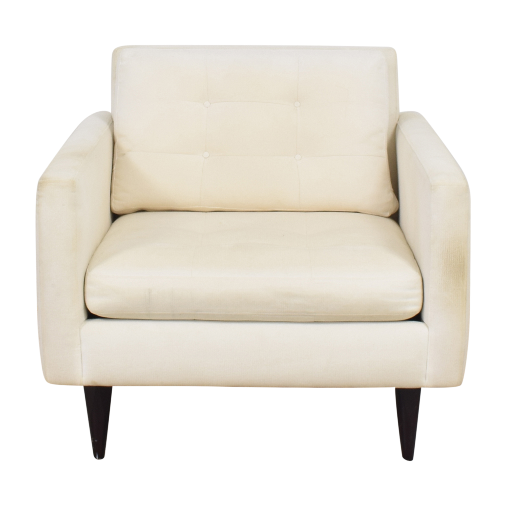 shop Crate & Barrel Petrie Midcentury Chair Crate & Barrel Accent Chairs