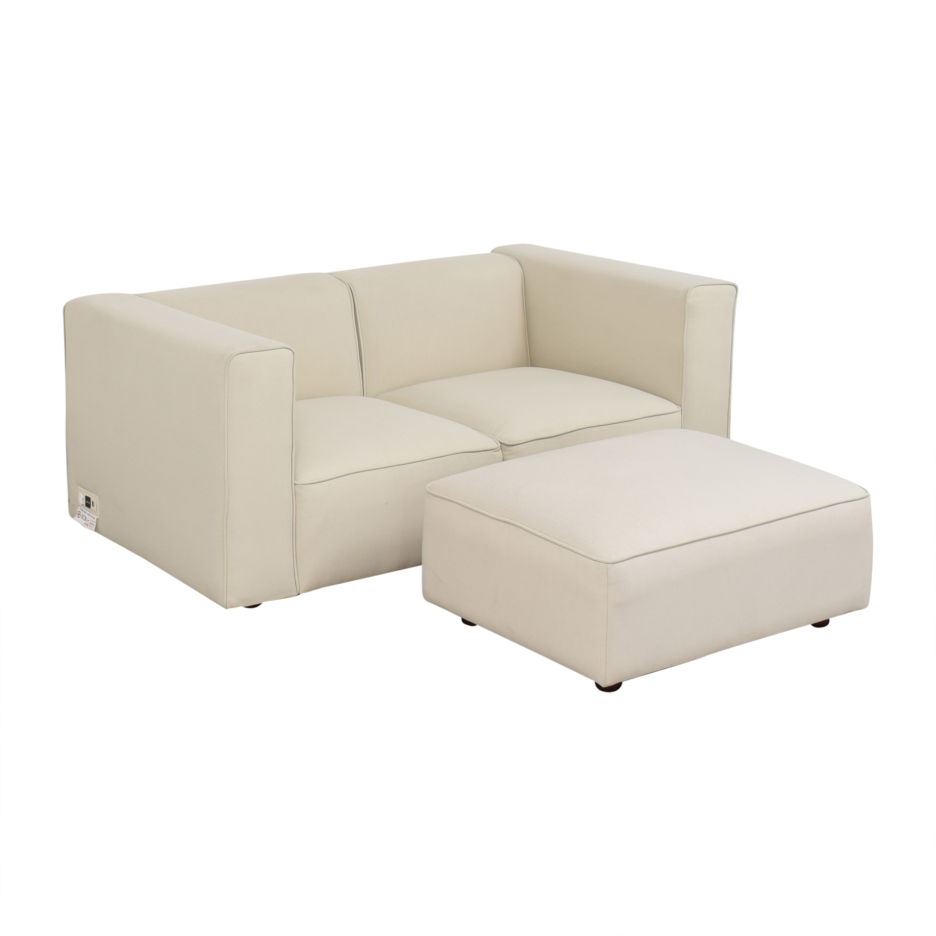 buy Coddle Node Modular Loveseat with Ottoman Coddle Sectionals