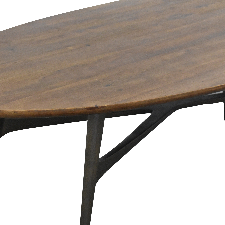 shop Crate & Barrel Bel Air Oval Coffee Table Crate & Barrel Tables