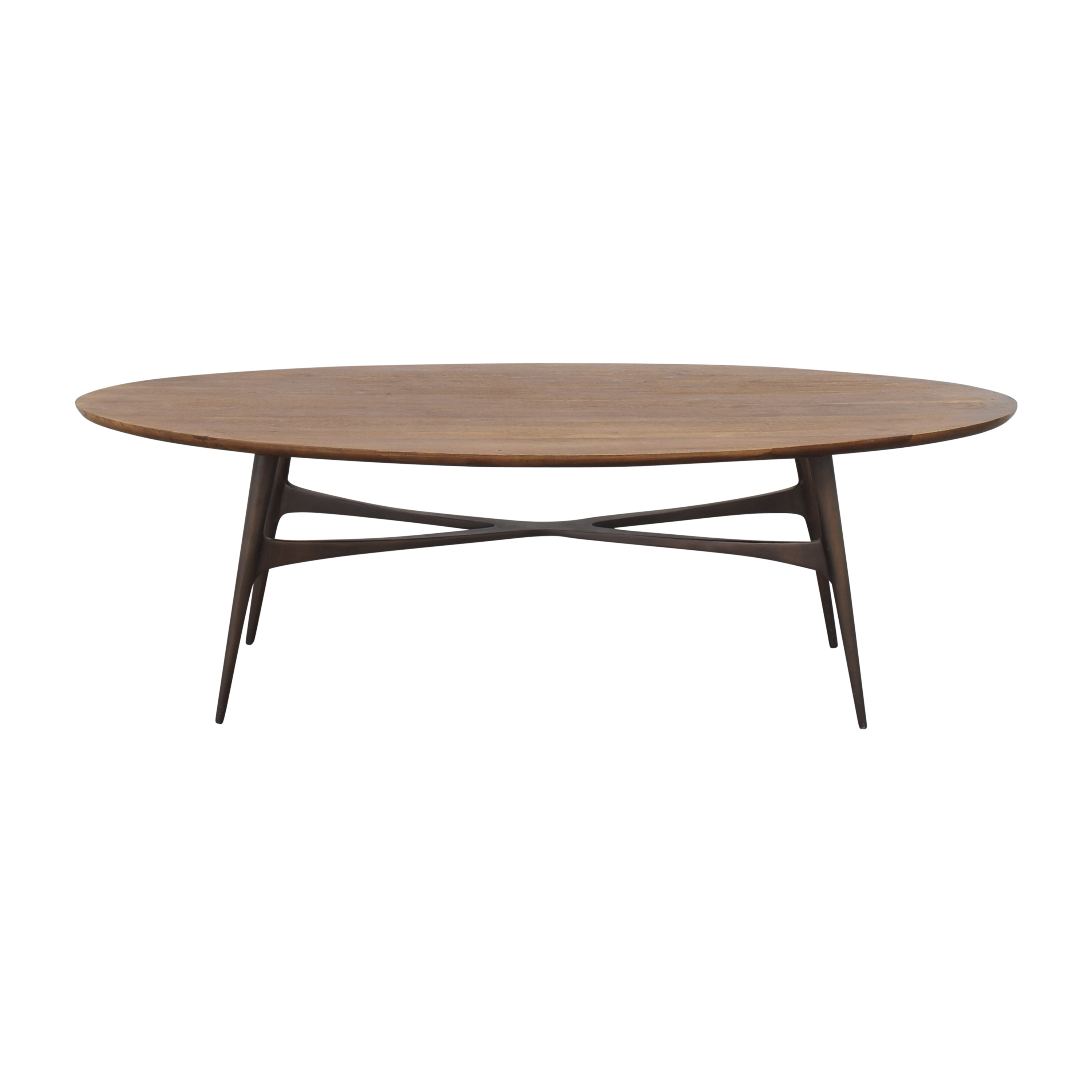 Crate & Barrel Bel Air Oval Coffee Table / Coffee Tables