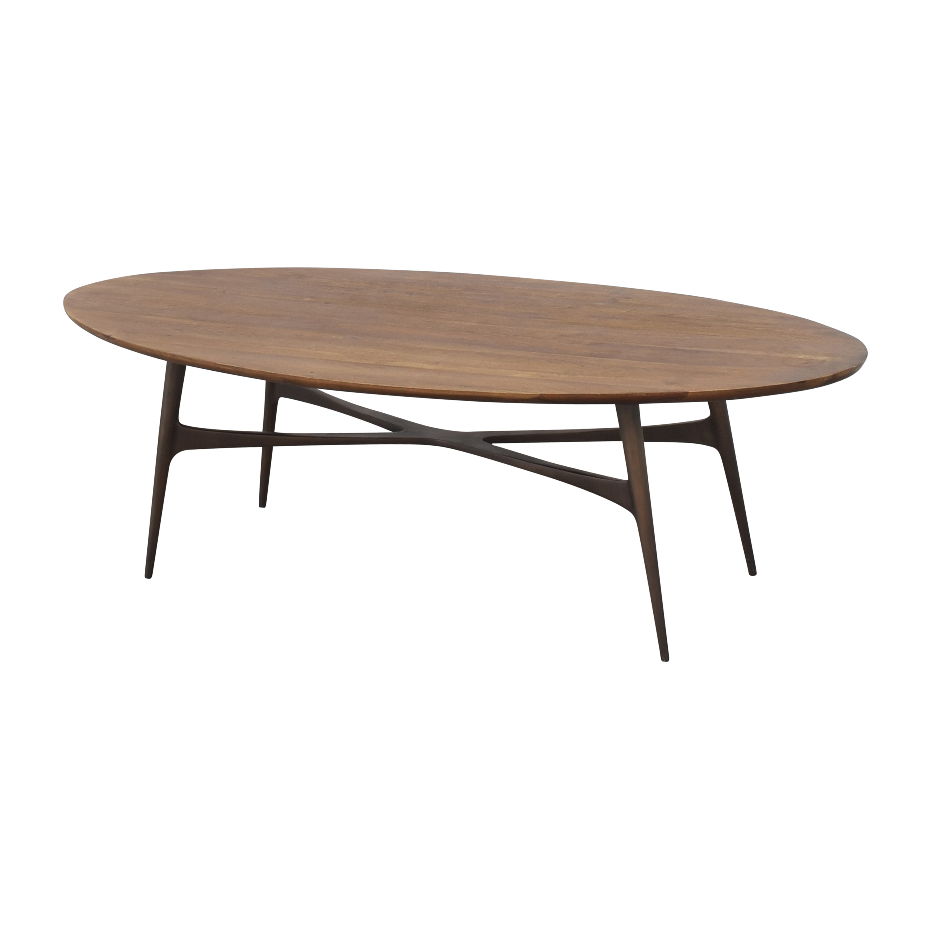 shop Crate & Barrel Bel Air Oval Coffee Table Crate & Barrel Coffee Tables
