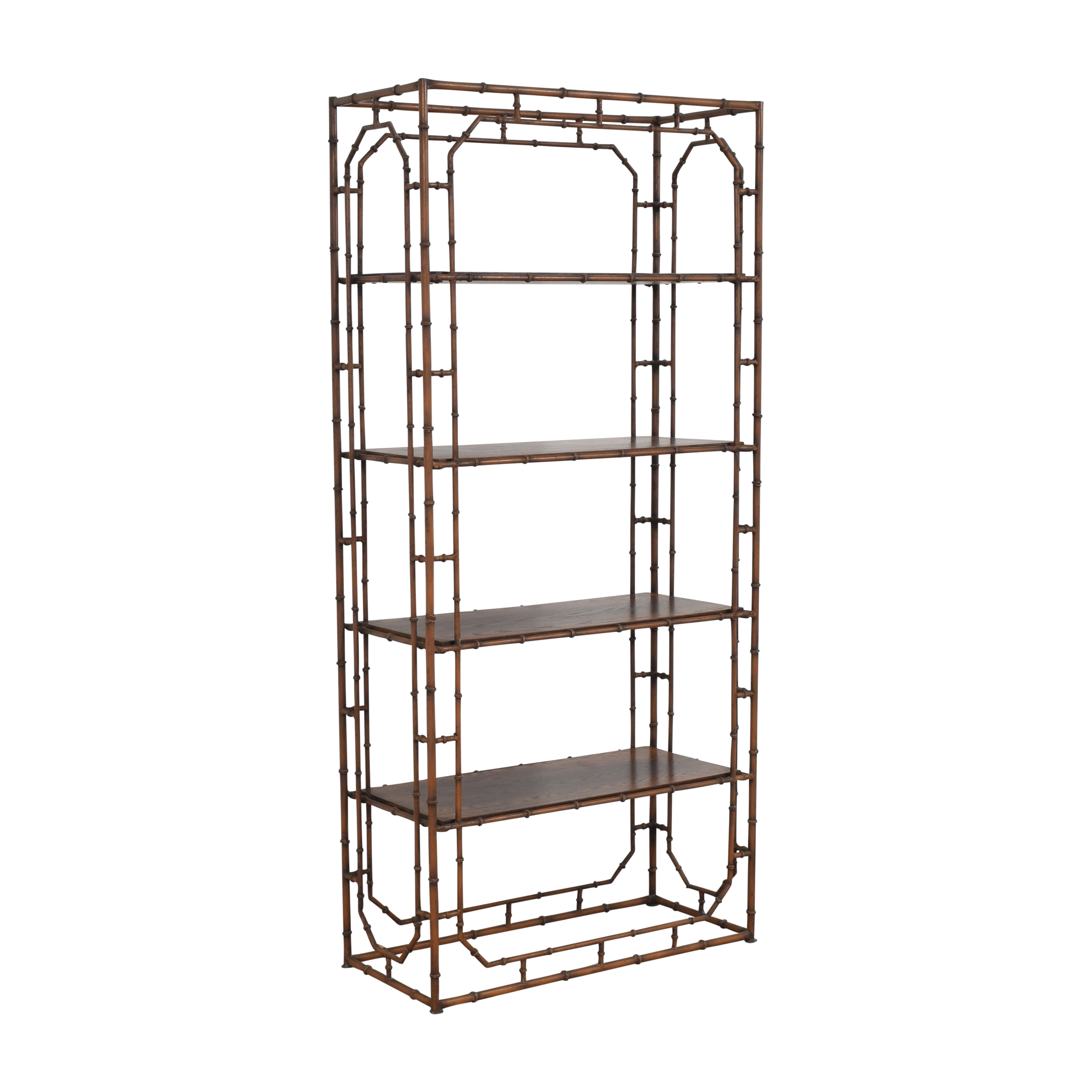 buy Bamboo=Style Etagere  Bookcases & Shelving