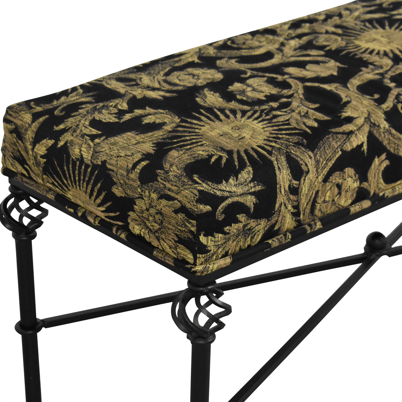 Filigree Upholstered Bench ma