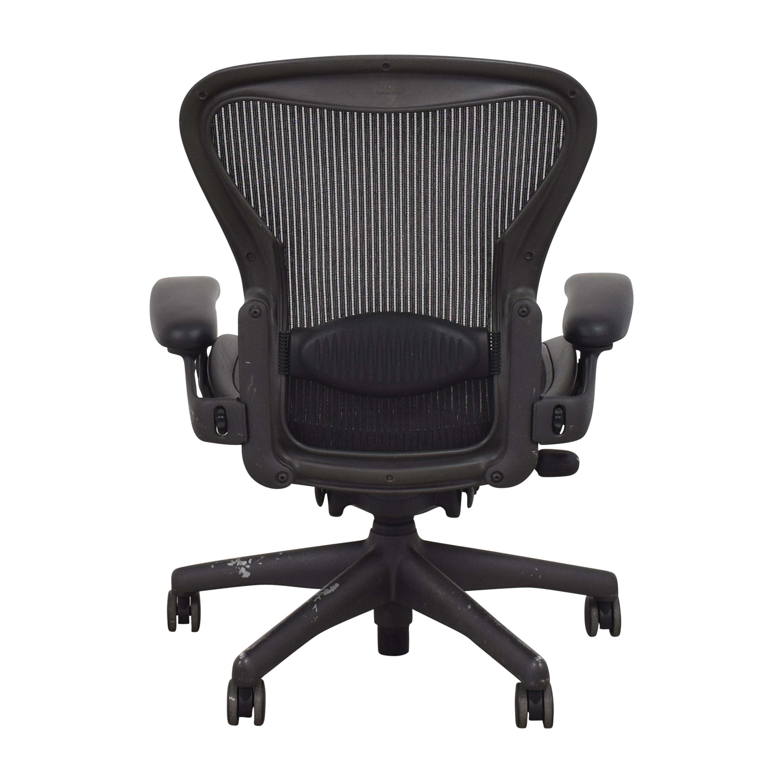 shop Herman Miller Aeron Size B Swivel Desk Chair Herman Miller Chairs