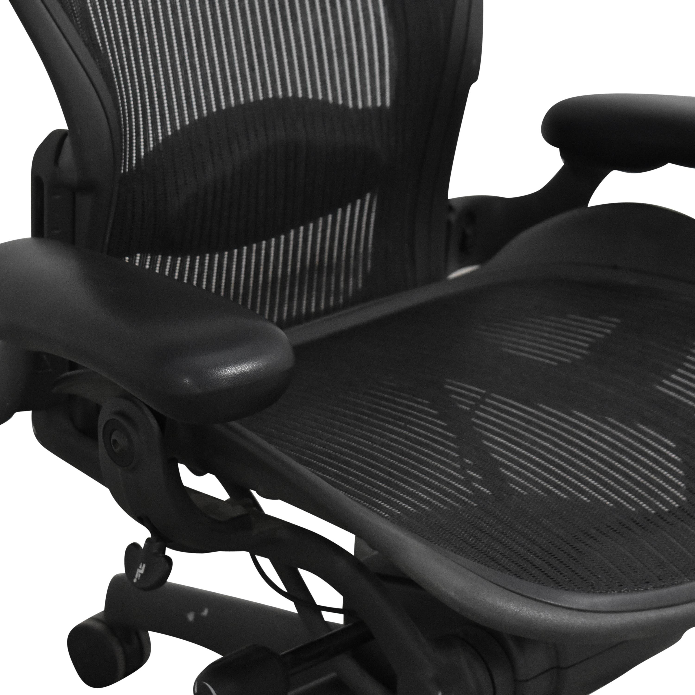 shop Herman Miller Aeron Size B Swivel Desk Chair Herman Miller