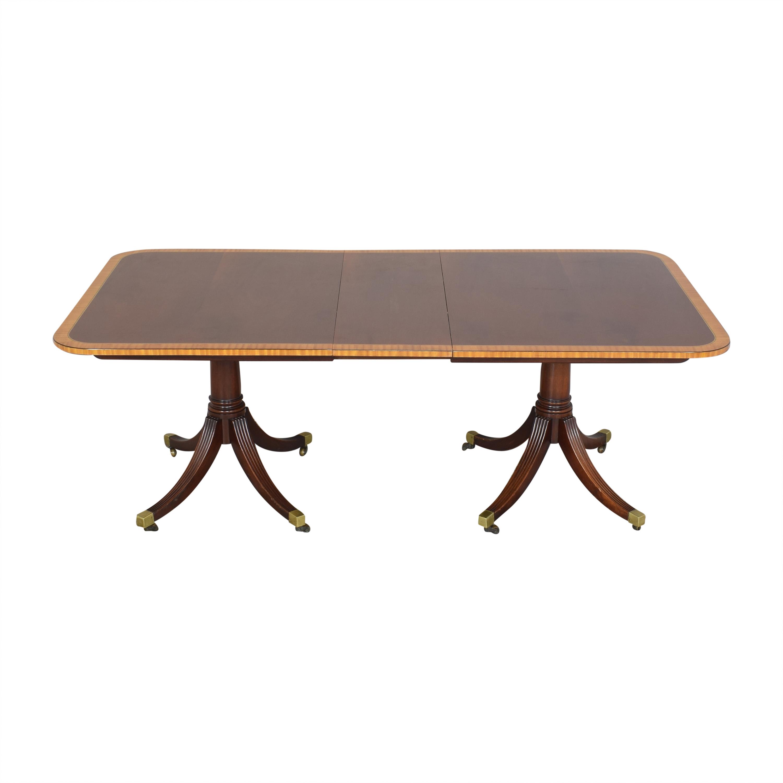 Baker Furniture Baker Furniture Extendable Double Pedestal Dining Table for sale