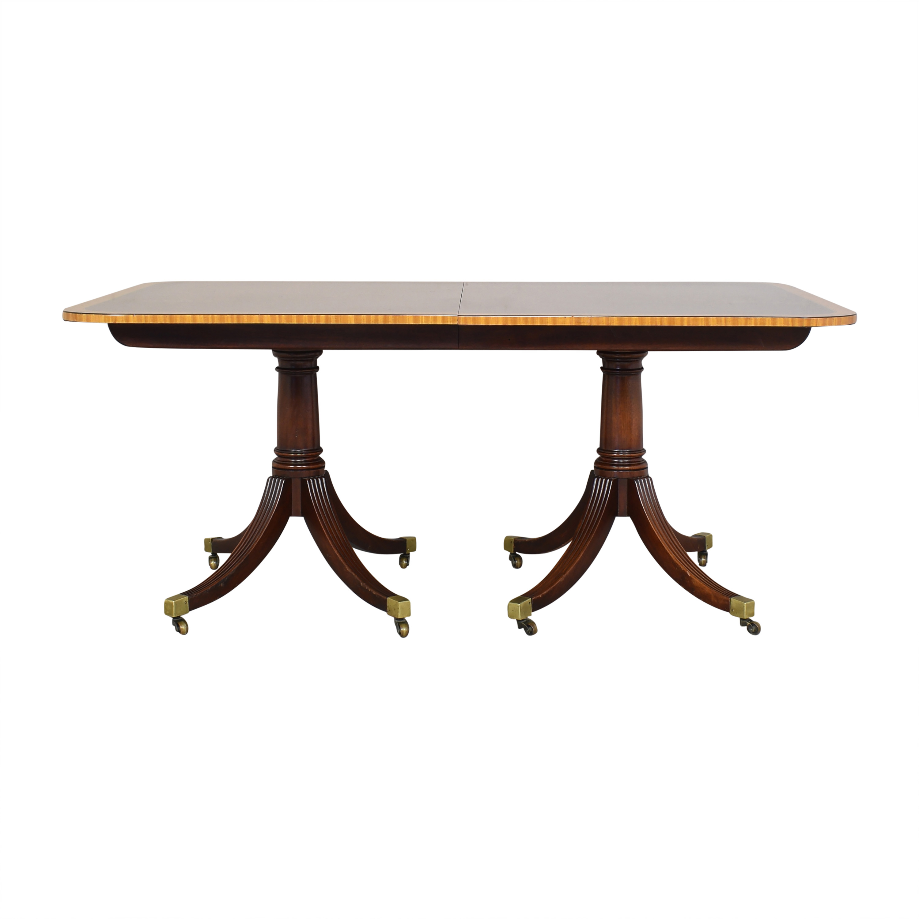 buy Baker Furniture Extendable Double Pedestal Dining Table Baker Furniture Dinner Tables