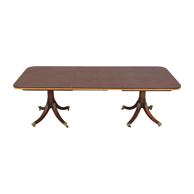 Baker Furniture Baker Furniture Extendable Double Pedestal Dining Table on sale