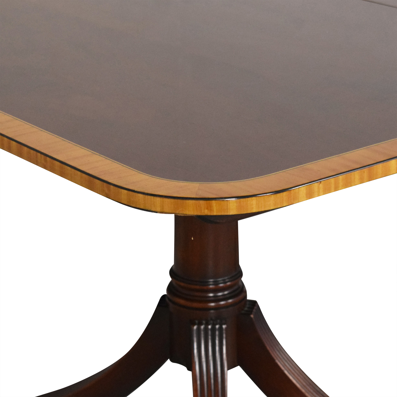 Baker Furniture Baker Furniture Extendable Double Pedestal Dining Table