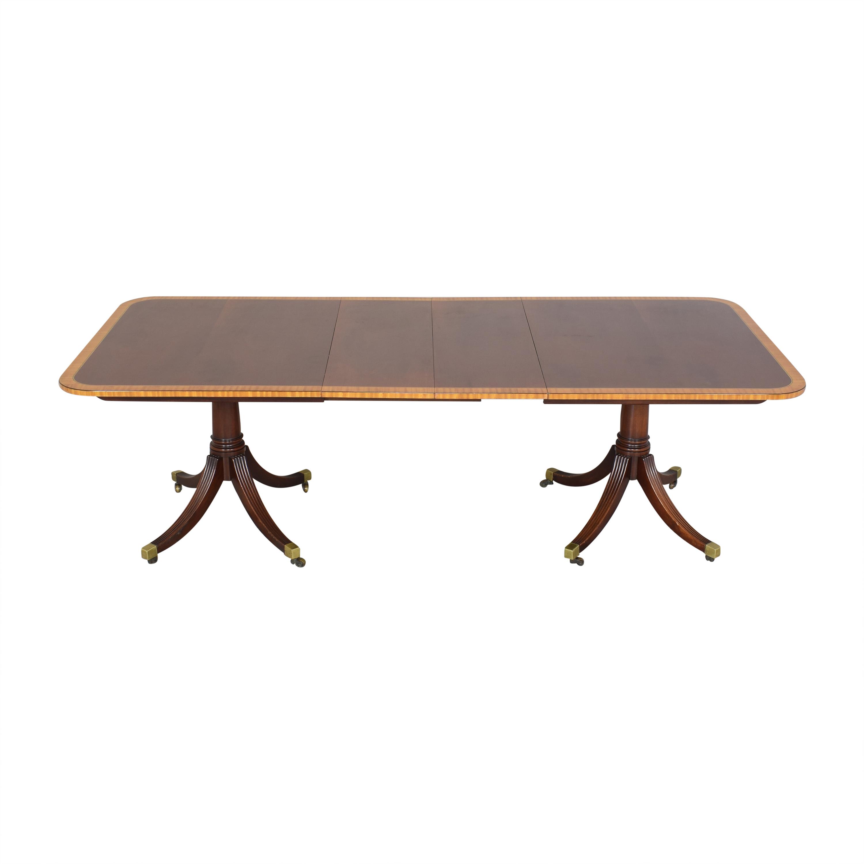 Baker Furniture Baker Furniture Extendable Double Pedestal Dining Table ma