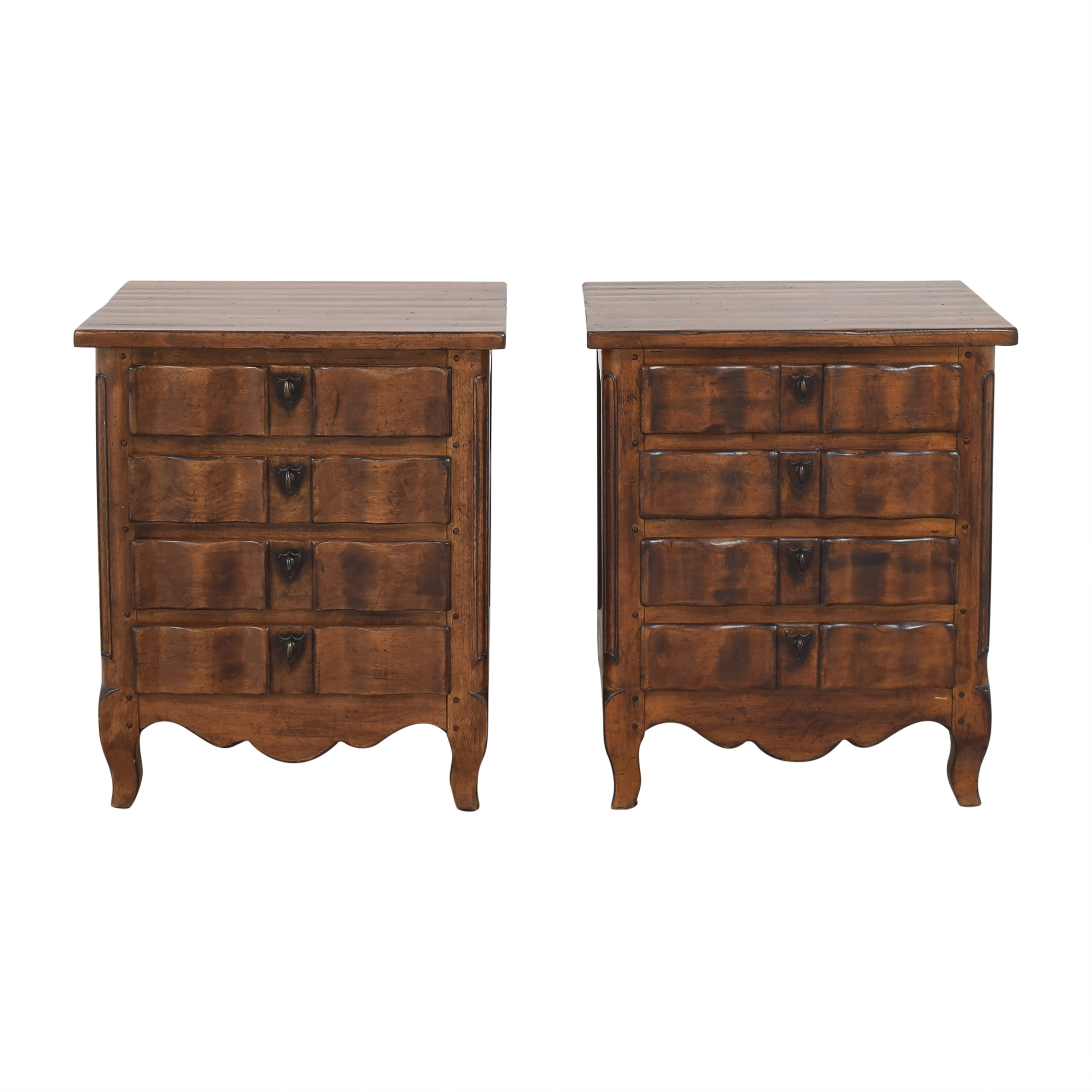 Drexel Heritage Four Drawer Nightstands / End Tables