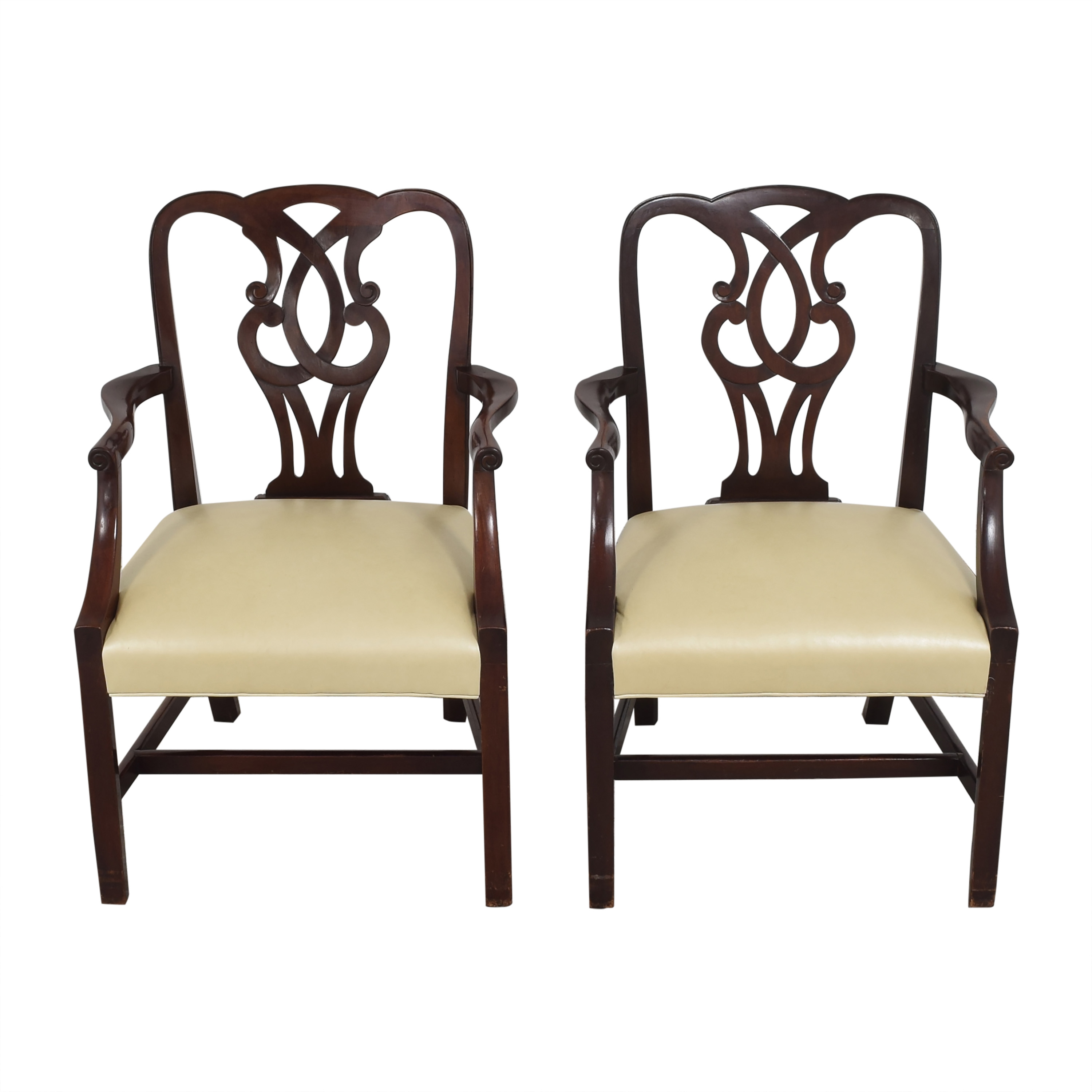 Baker Furniture Baker Furniture Chippendale-Style Dining Arm Chairs second hand