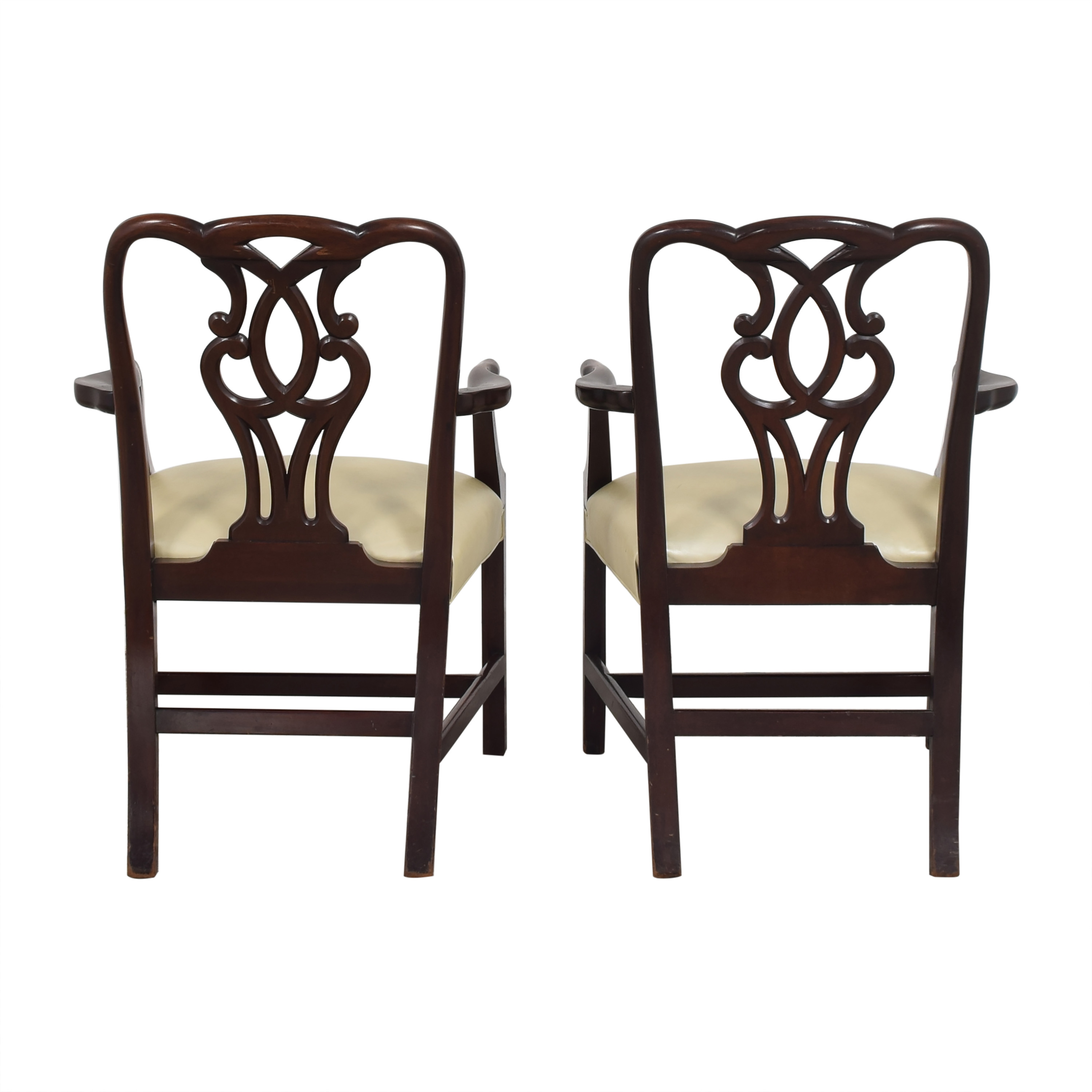 buy Baker Furniture Baker Furniture Chippendale-Style Dining Arm Chairs online