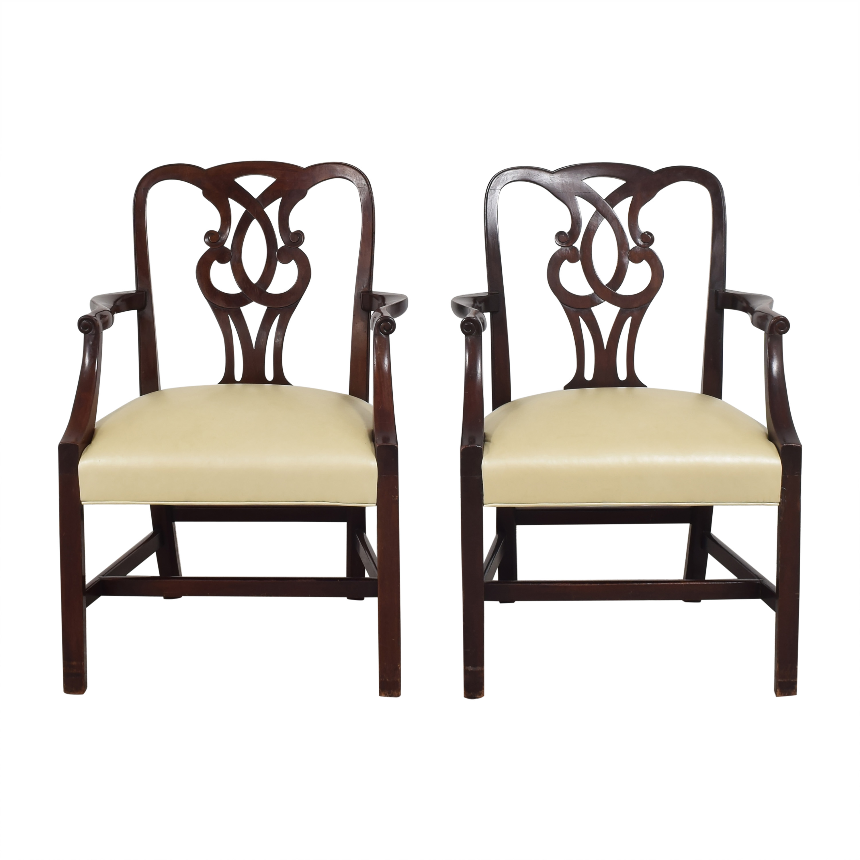 shop Baker Furniture Chippendale-Style Dining Arm Chairs Baker Furniture