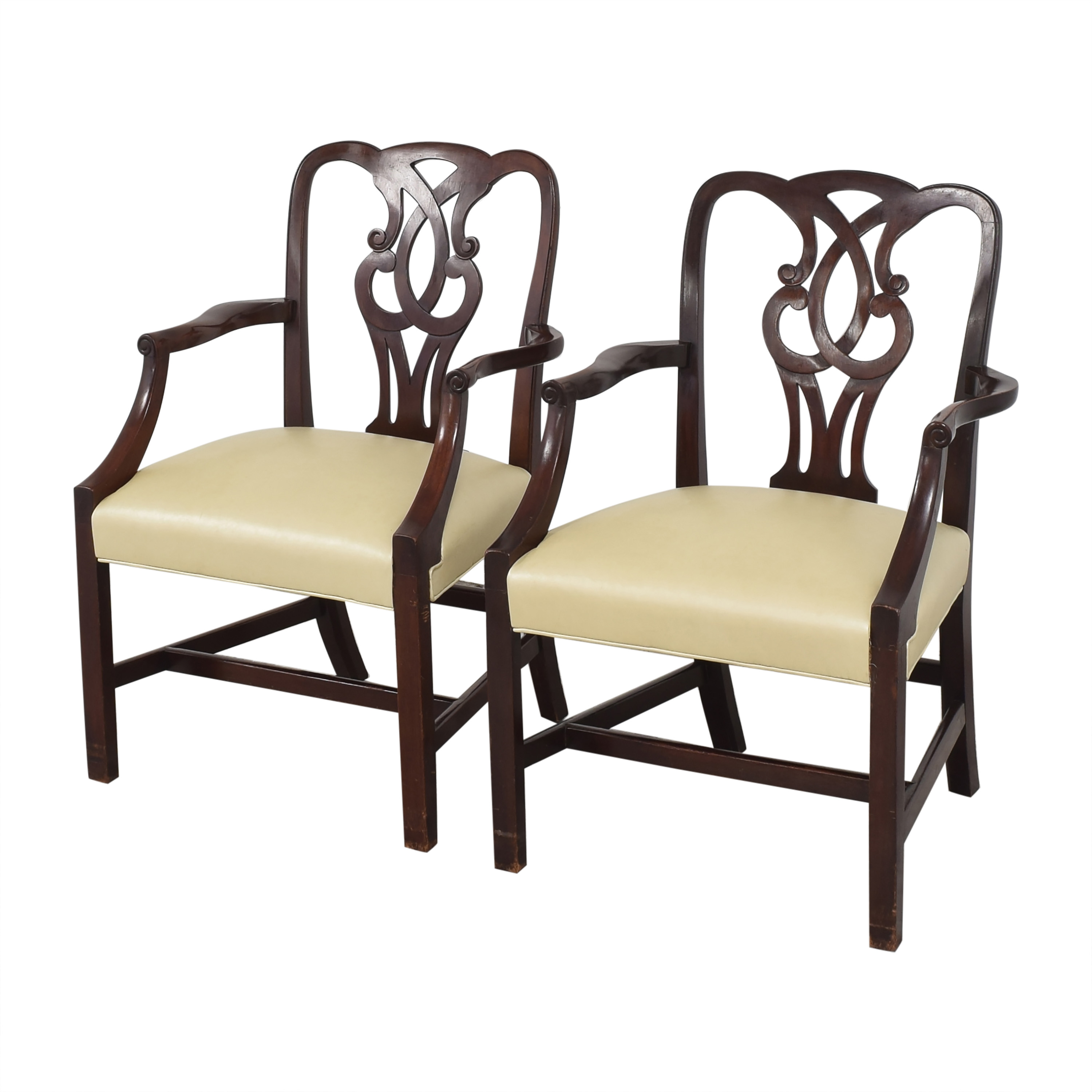 Baker Furniture Baker Furniture Chippendale-Style Dining Arm Chairs Chairs