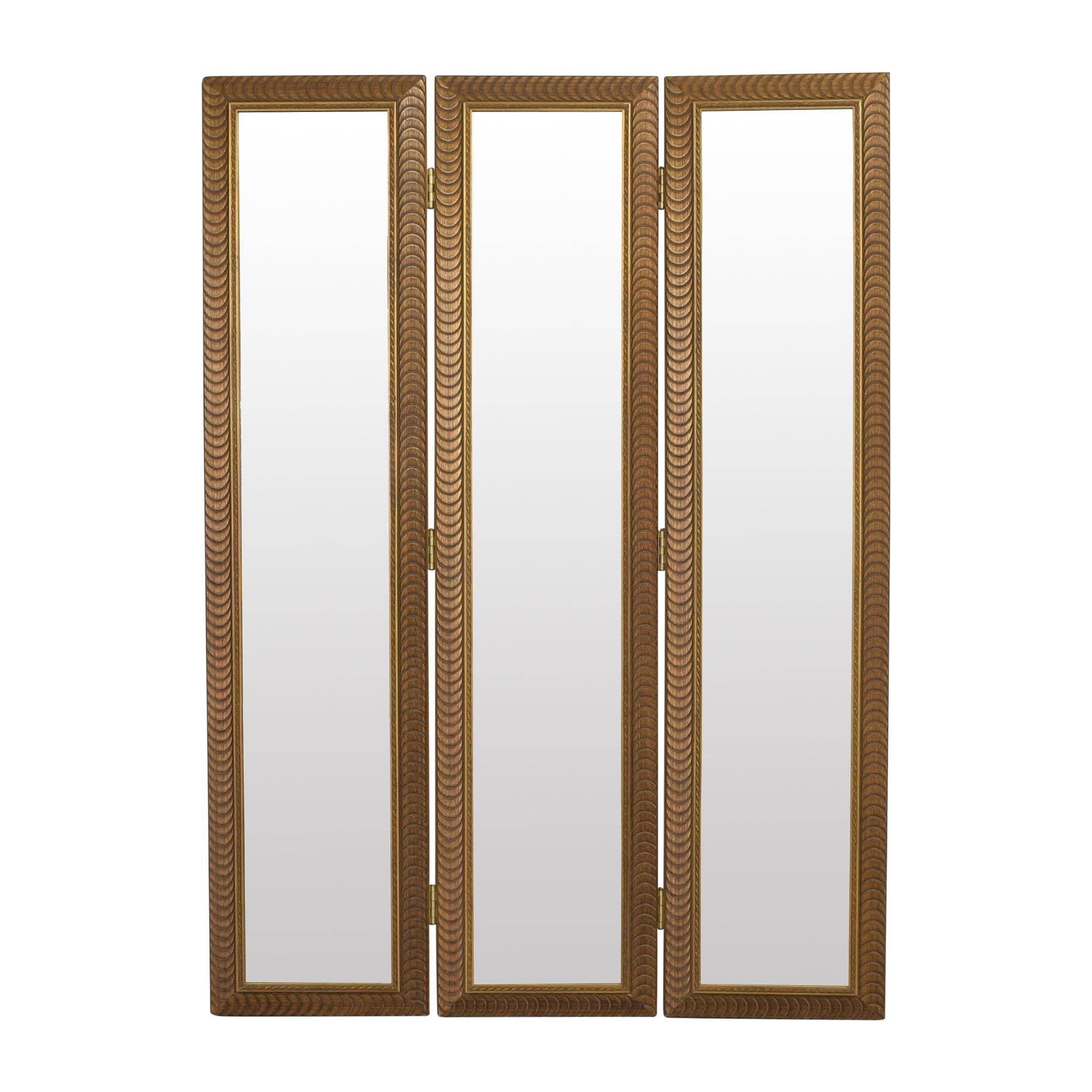Tri-Panel Floor Mirror used