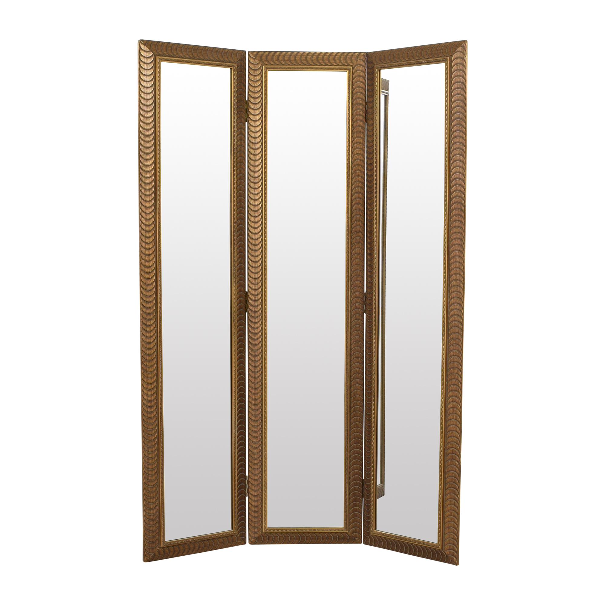 shop Tri-Panel Floor Mirror  Mirrors