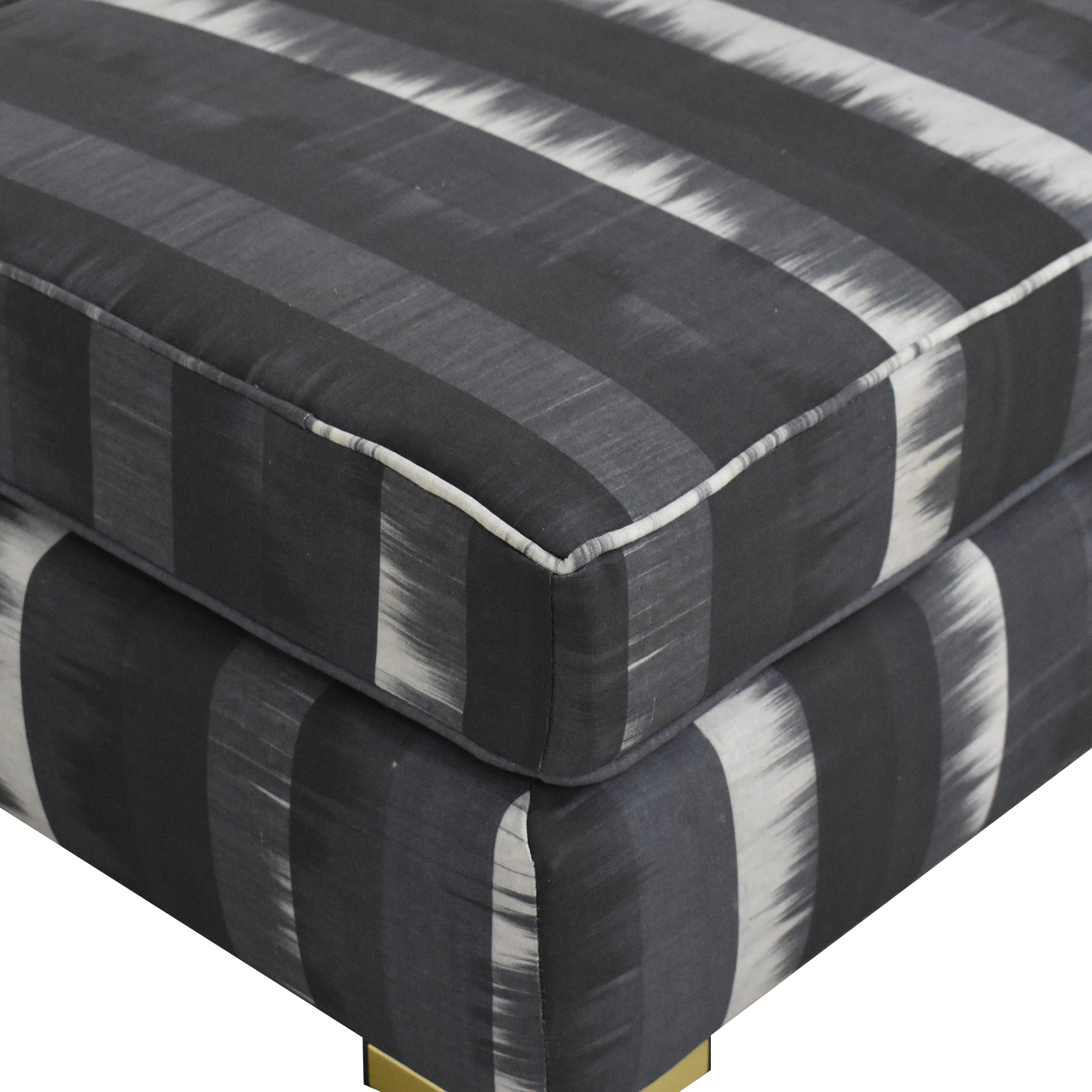 buy The Inside The Inside Indigo Ikat Stripe Modern Bench online