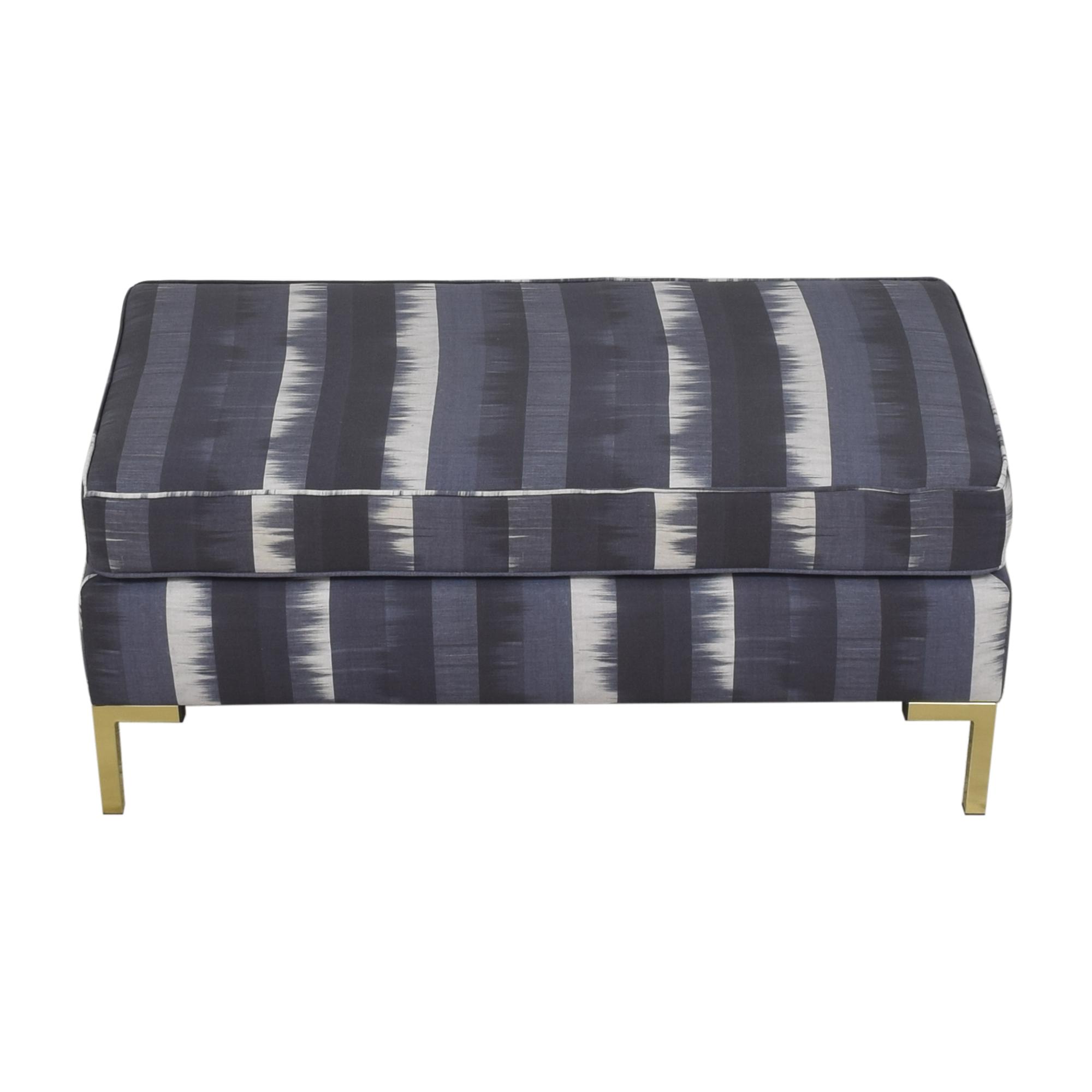 The Inside The Inside Indigo Ikat Stripe Modern Bench on sale