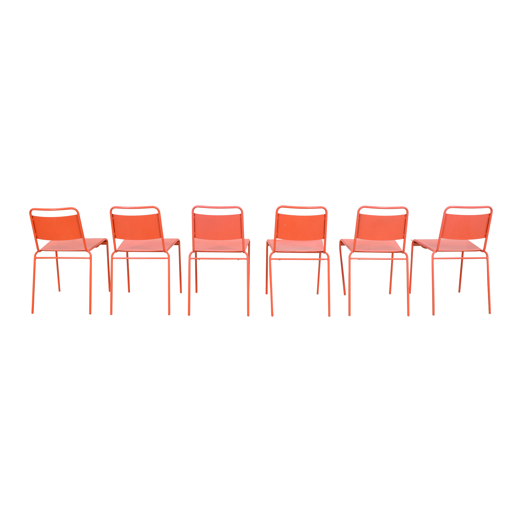 shop CB2 Lucinda Stacking Chairs CB2 Dining Chairs