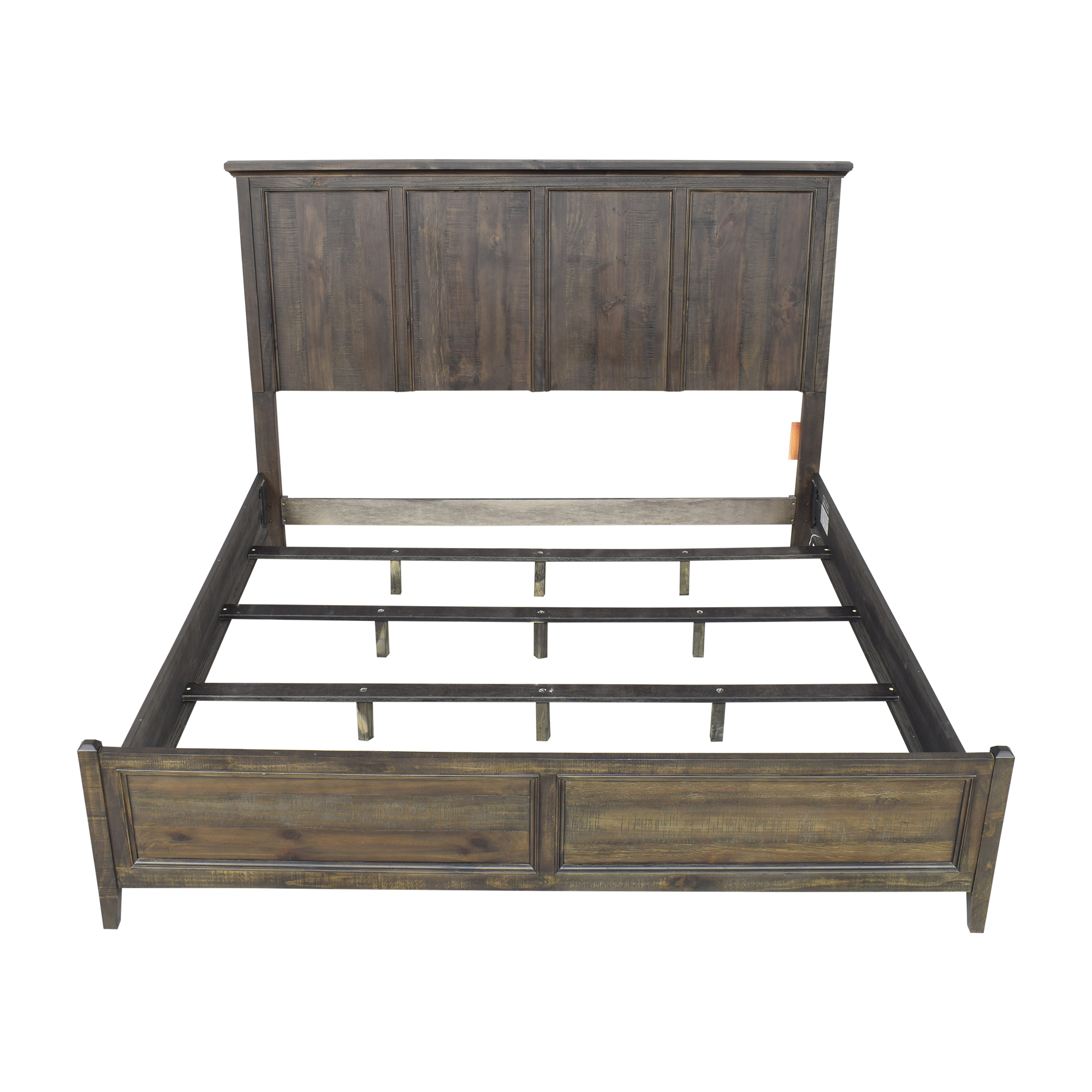 shop Raymour & Flanigan King Panel Bed Raymour & Flanigan Bed Frames