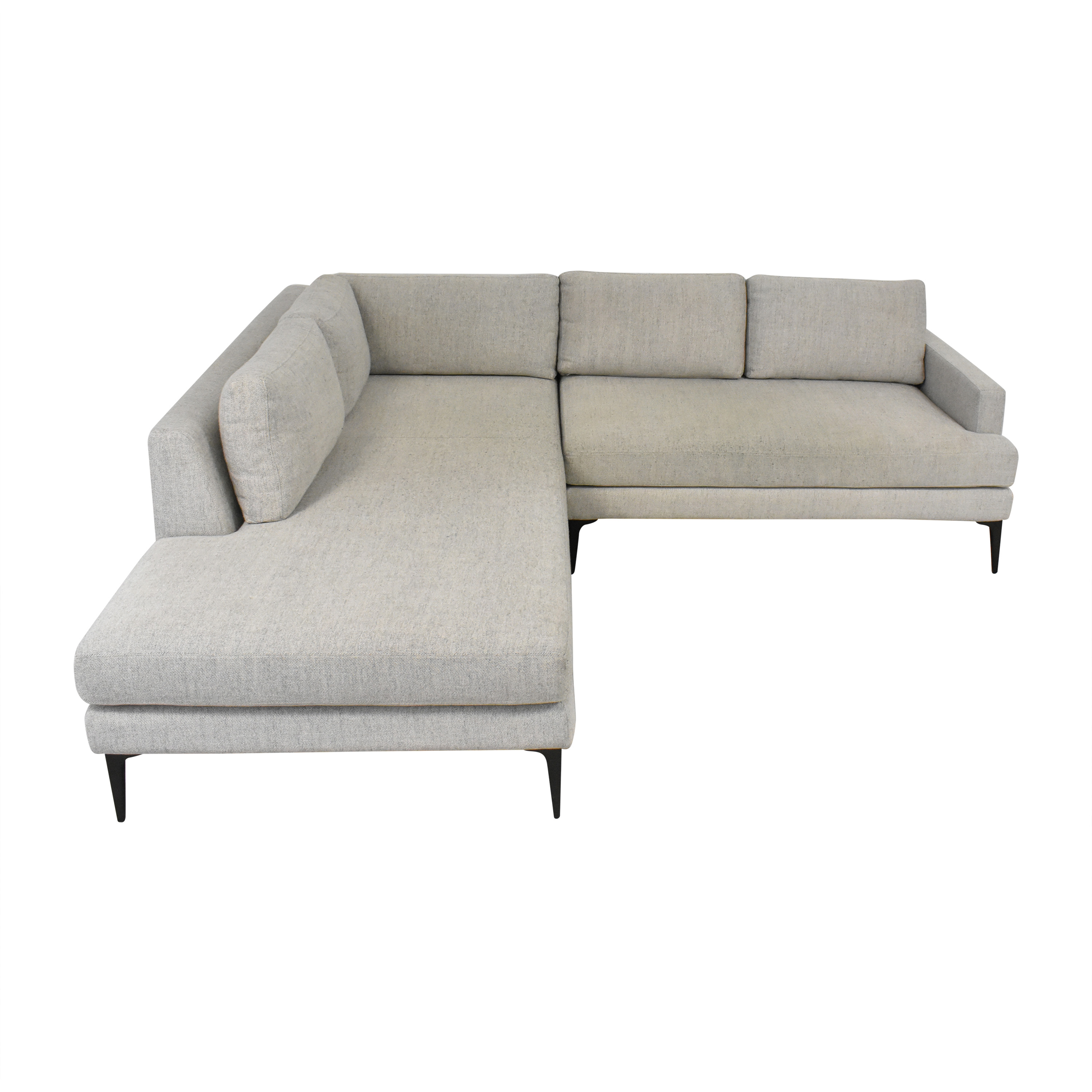 West Elm West Elm Andes Two Piece Terminal Chaise Sectional