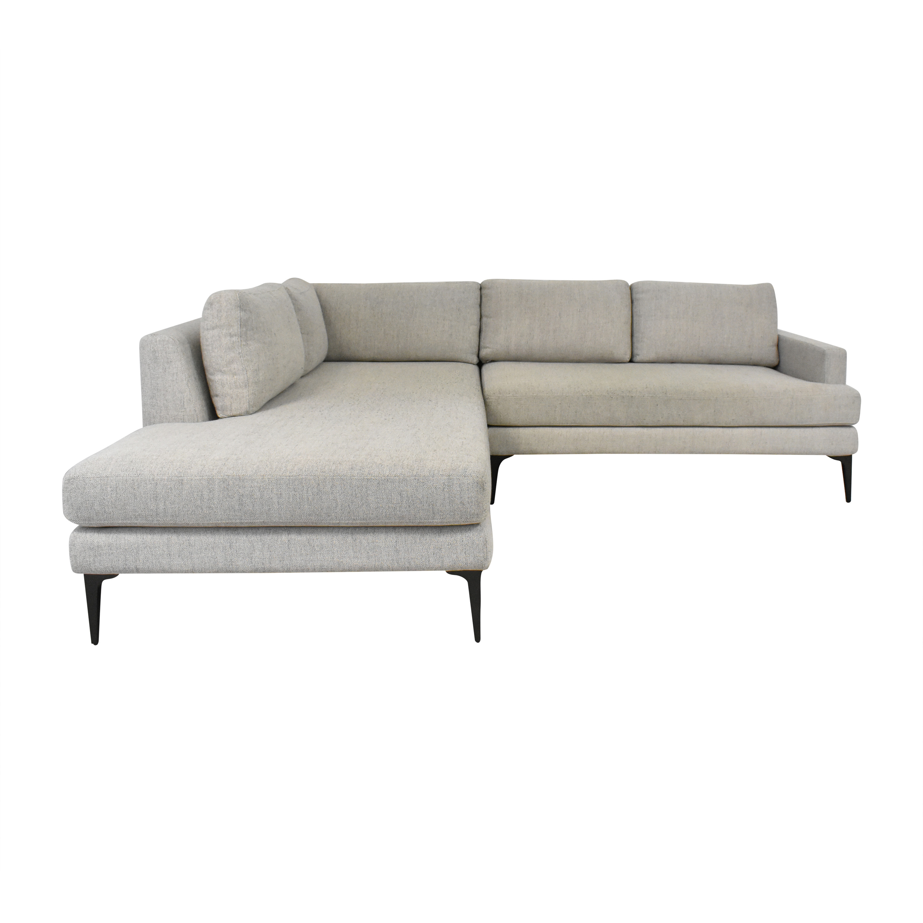 West Elm West Elm Andes Two Piece Terminal Chaise Sectional for sale