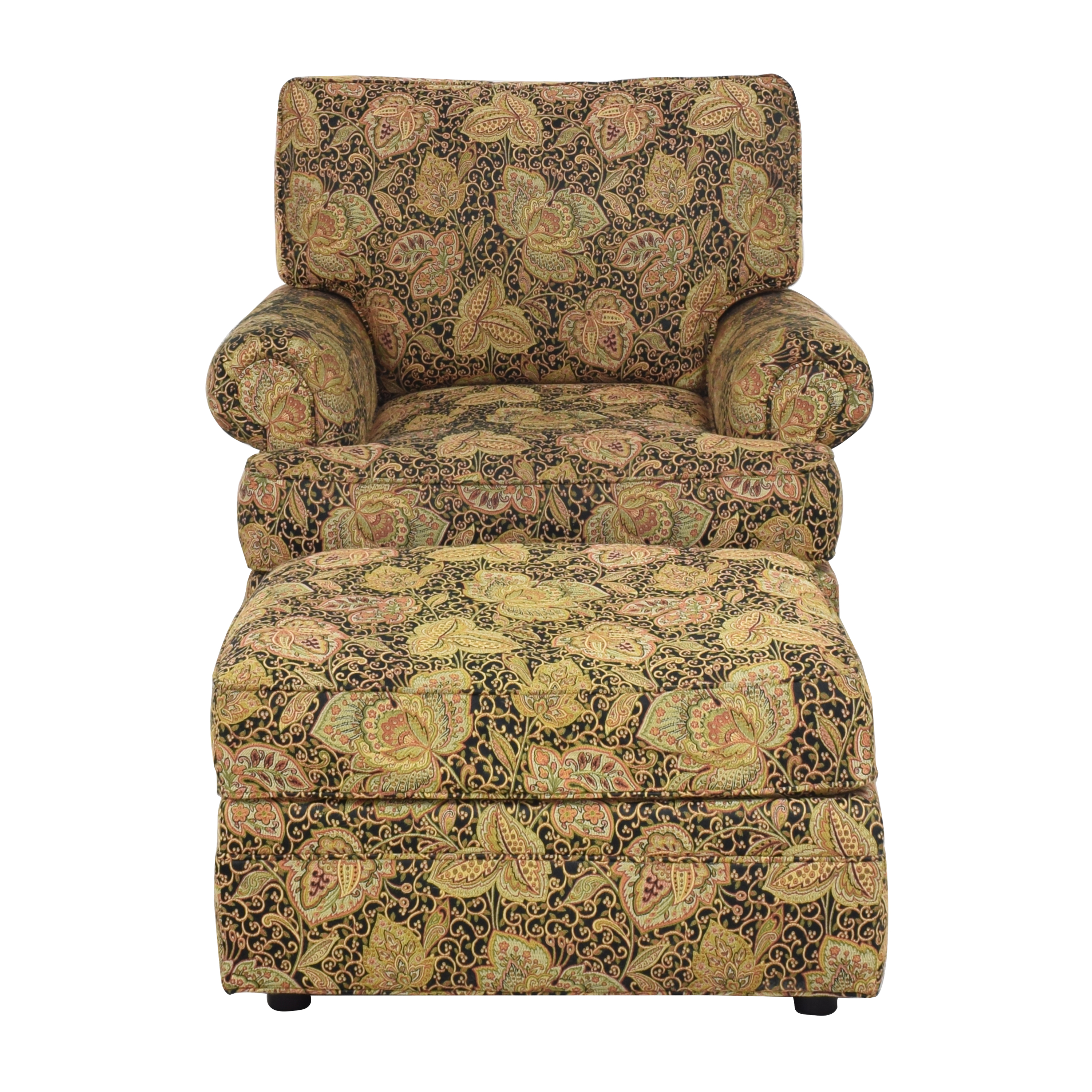 buy Thomasville Swivel Club Chair with Ottoman Thomasville Accent Chairs