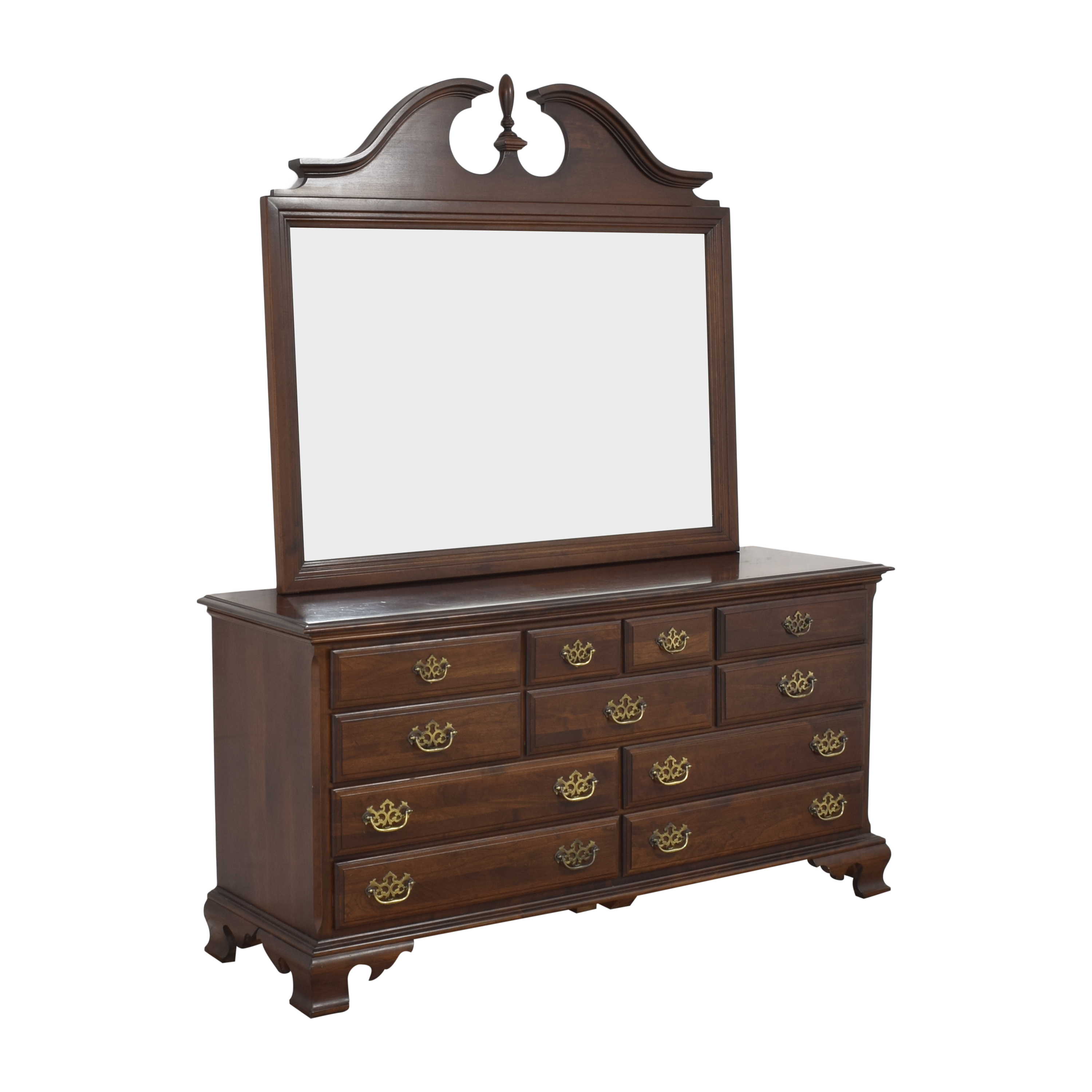 Chippendale-Style Dresser with Mirror sale