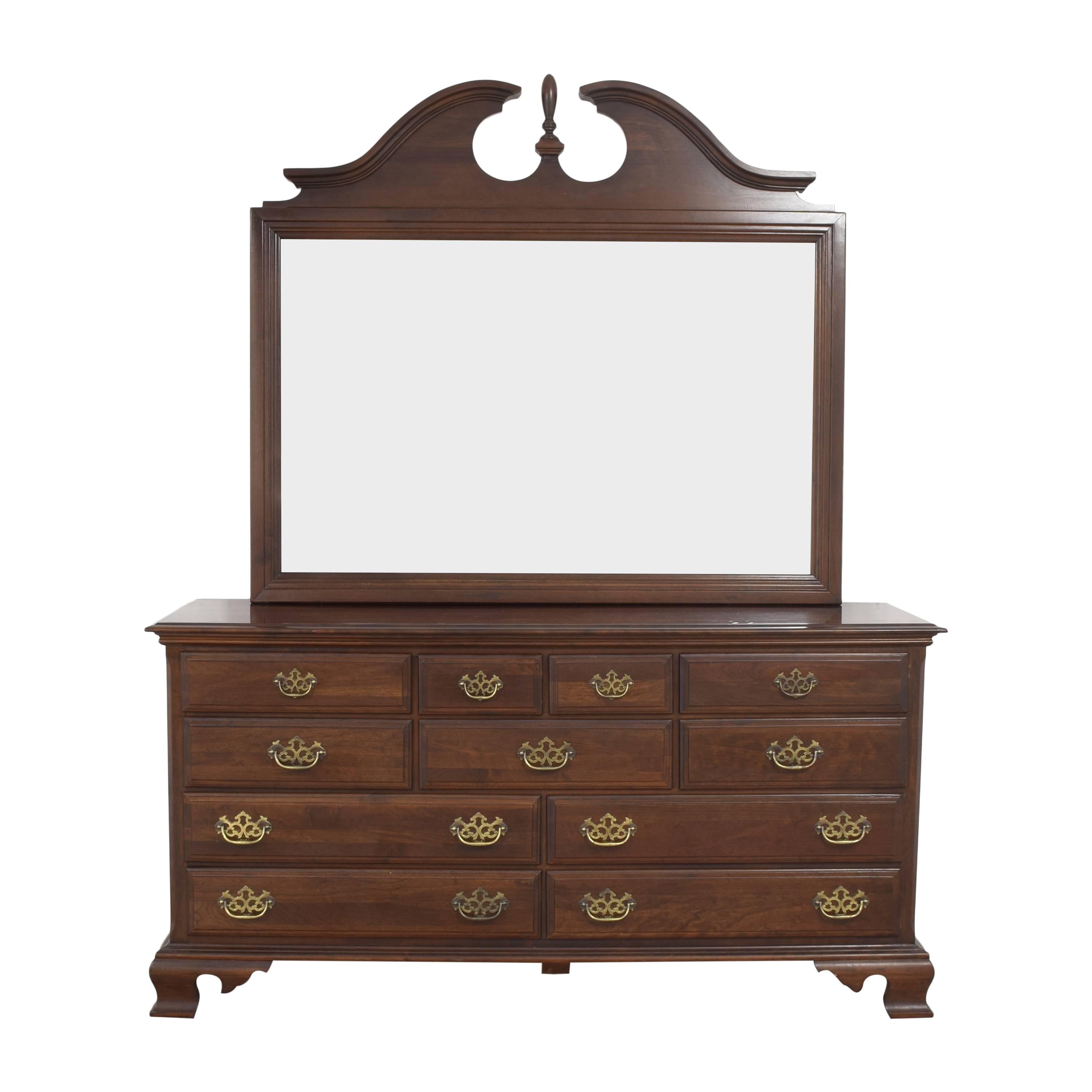 Chippendale-Style Dresser with Mirror