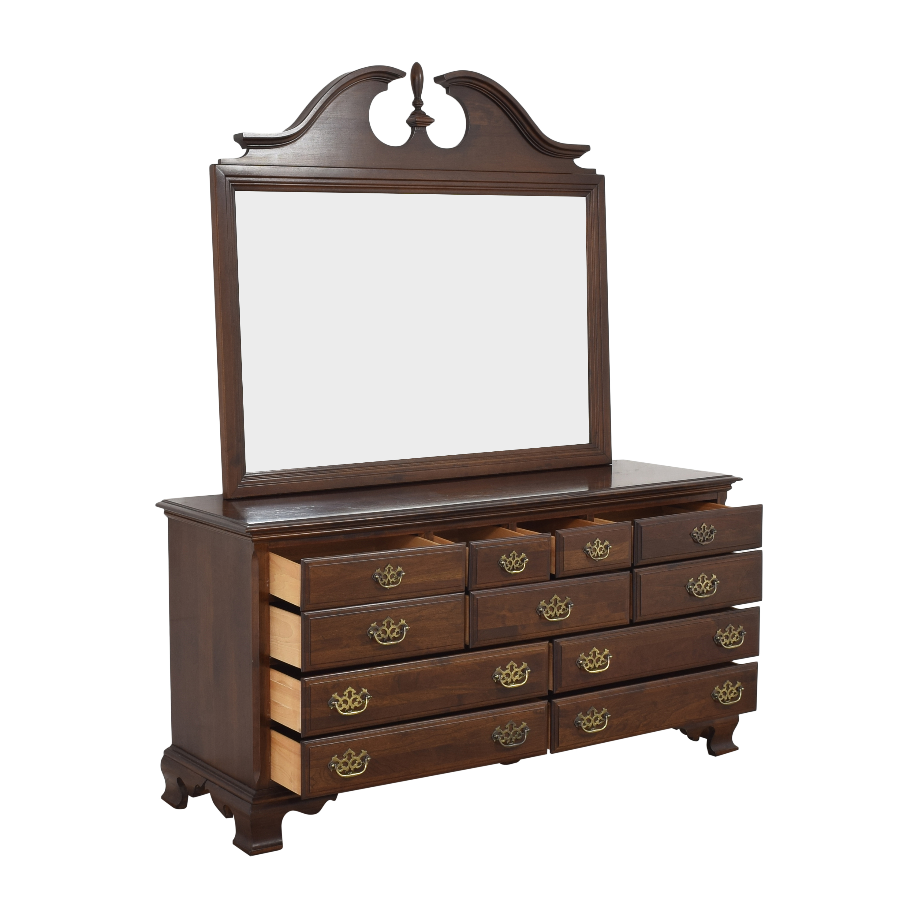 Chippendale-Style Dresser with Mirror used